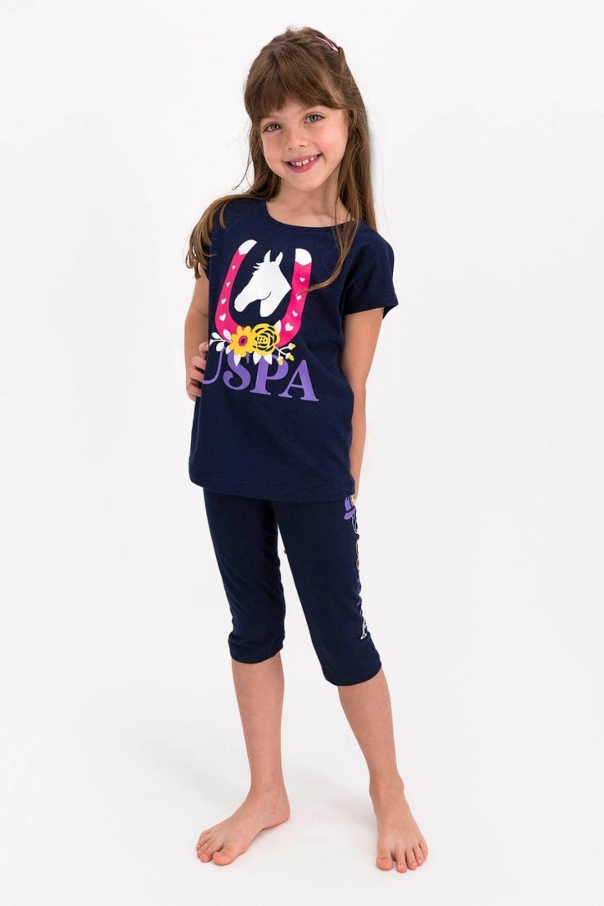 4-8 Yaş Us Polo ASSN Lisanslı Horseshoe Laci Kız Çocuk Takım