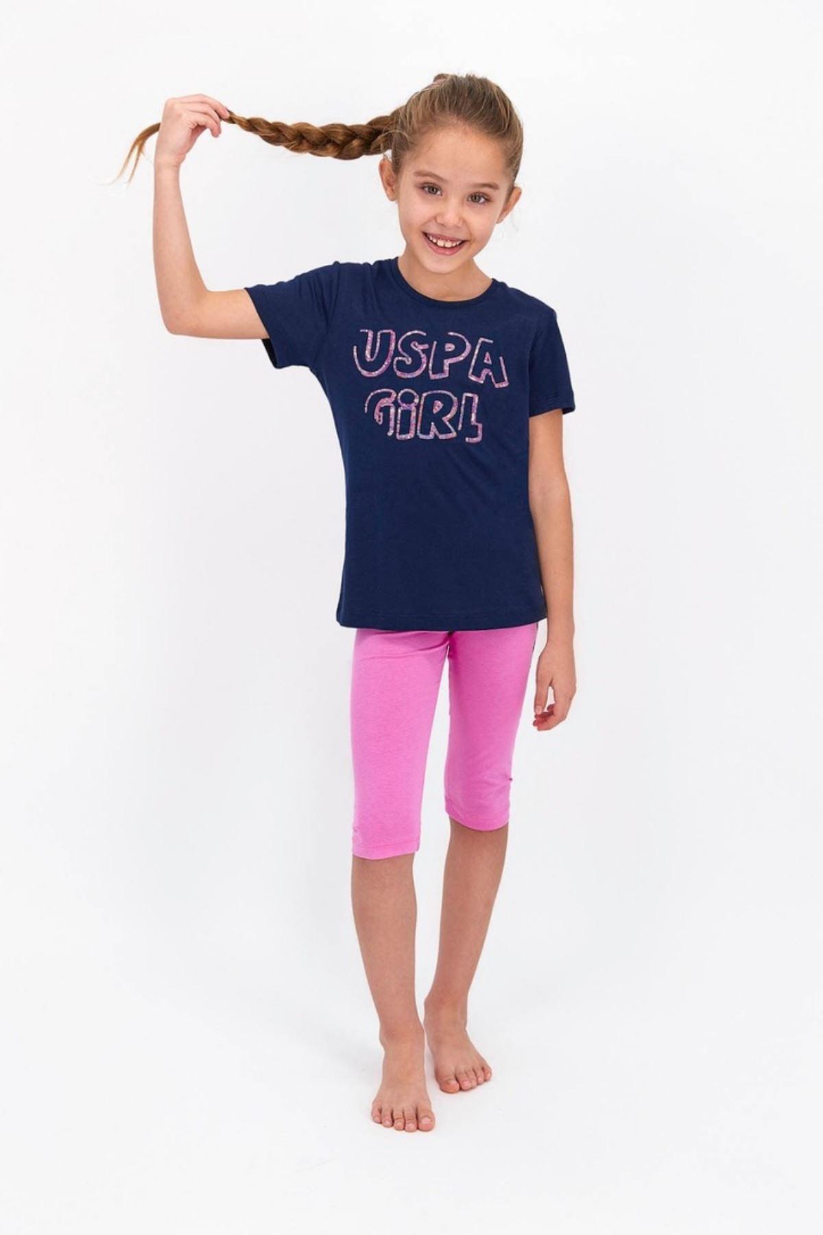 4-8 Yaş Us Polo ASSN Lisanslı Payetli Laci Kız Çocuk Takım