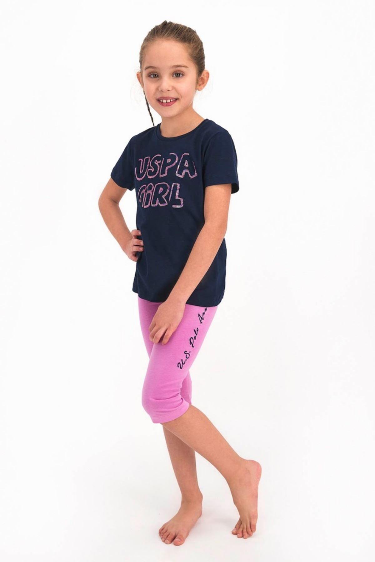 9-15 Yaş Us Polo ASSN Lisanslı Payetli Laci Kız Çocuk Takım