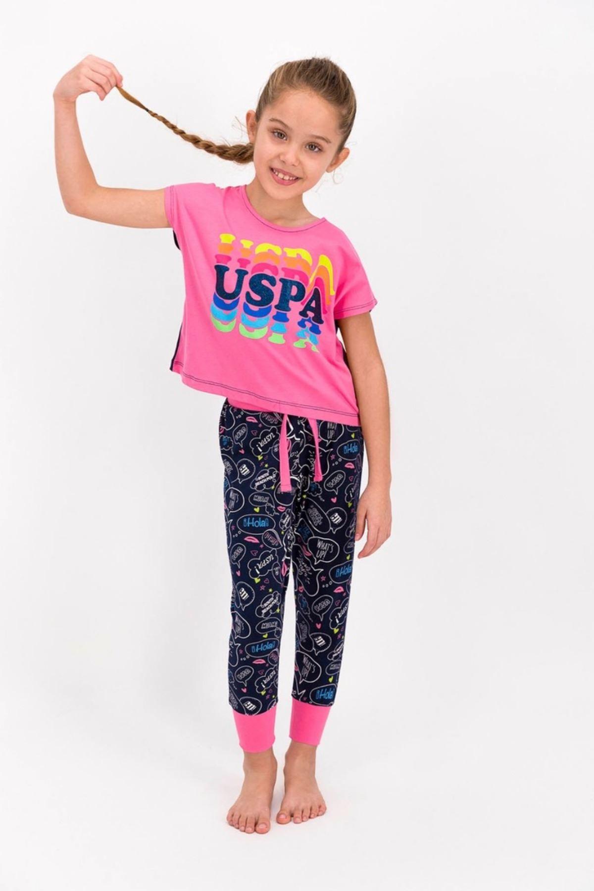 4-8 Yaş Us Polo ASSN Lisanslı Hola Pembe Kız Çocuk Takım