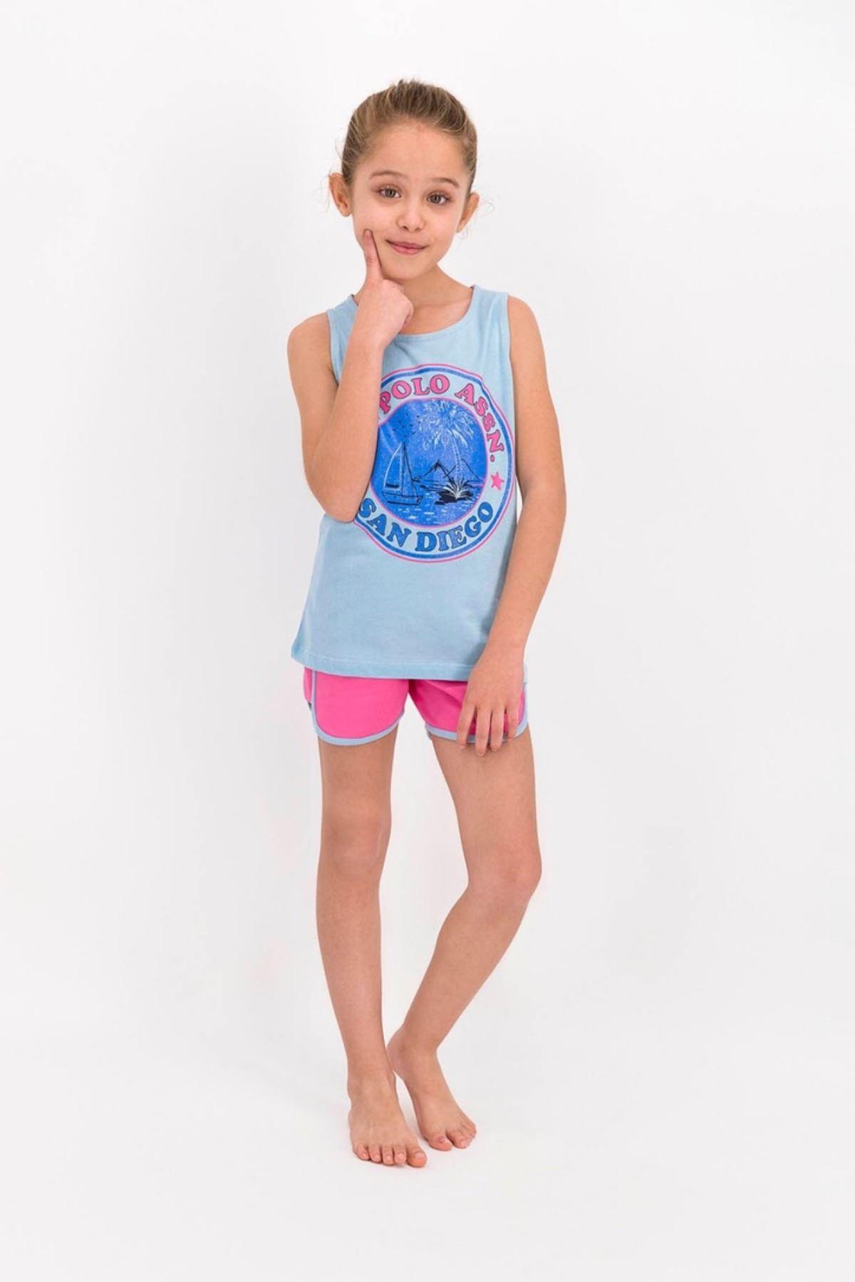 9-15 Yaş Us Polo ASSN Lisanslı San Diego Mavi Kız Çocuk Takım
