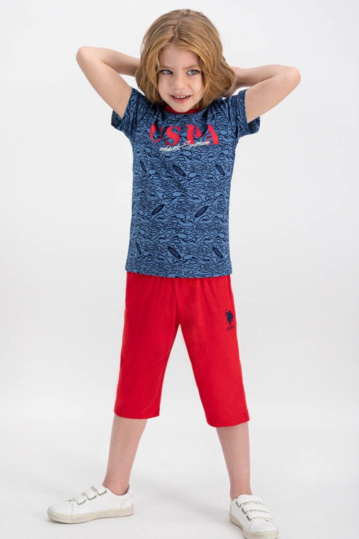 4-8 Yaş Us Polo ASSN Lisanslı Sportsweat Laci Erkek Çocuk Takım