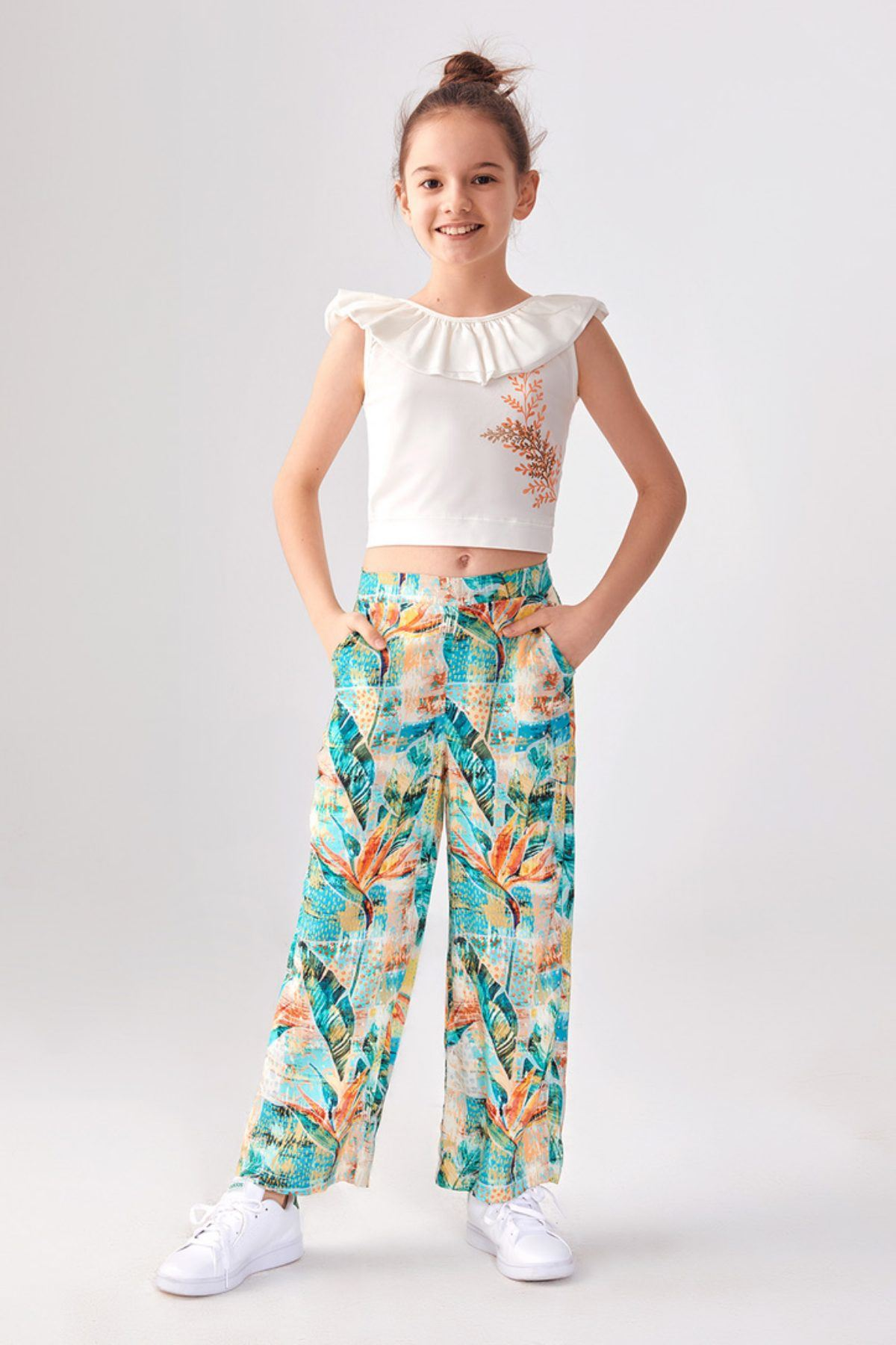 Tropic Pantolonlu Yazlık Kız Çocuk Takım