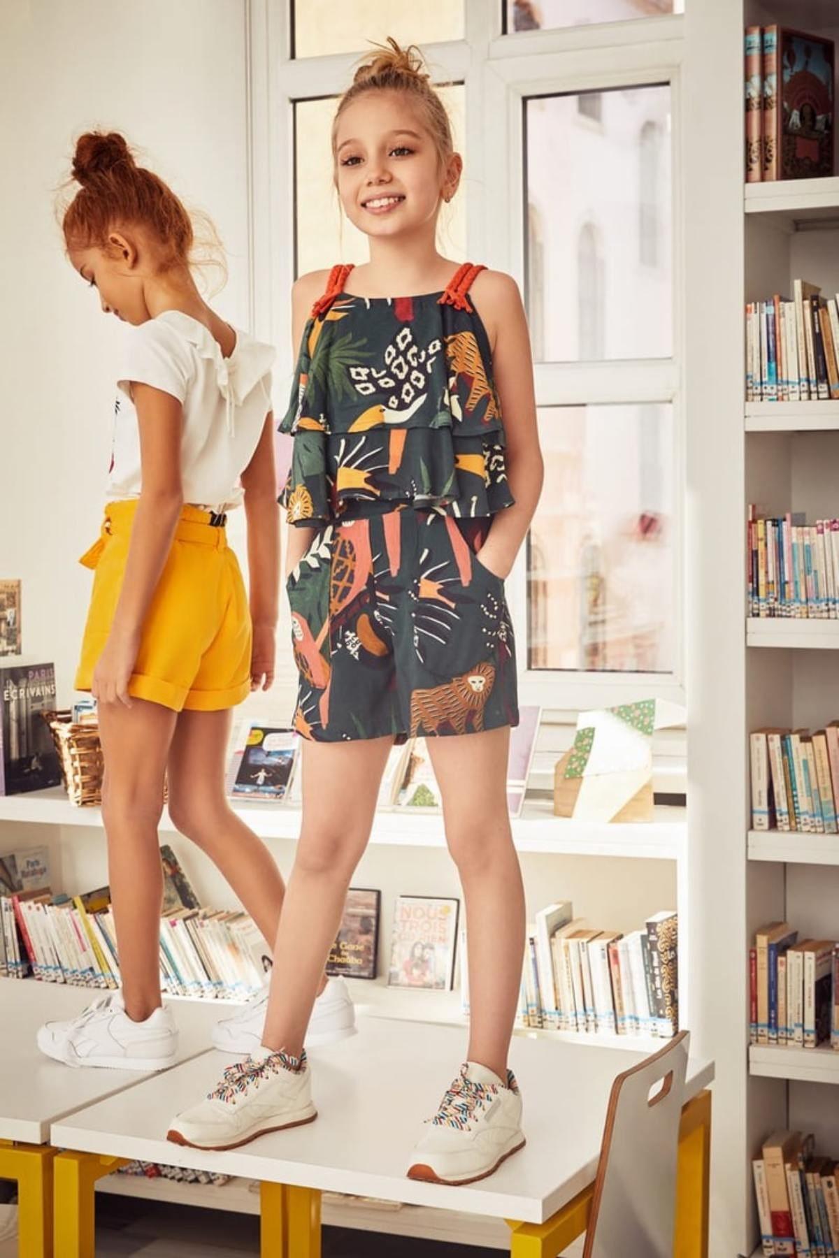 Amazon Figür Şortlu Kız Çocuk Takım