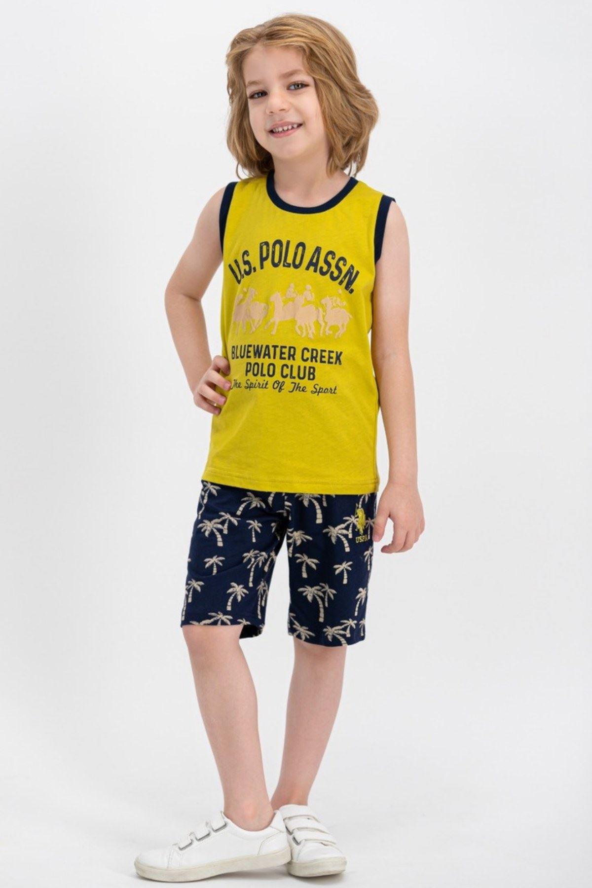 8-14 Us Polo ASSN Lisanslı Bluewater Yeşil Erkek Çocuk Takım