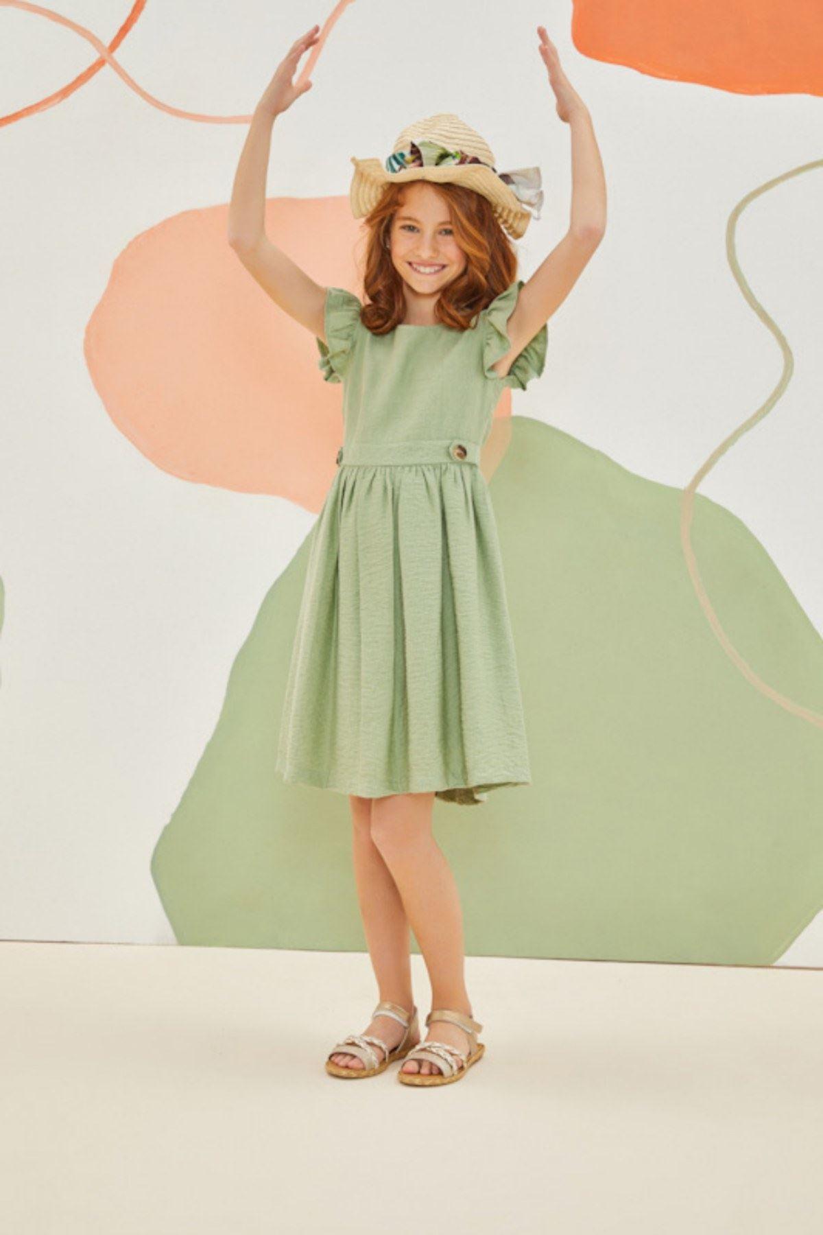 Yeşil  Cute Elbise