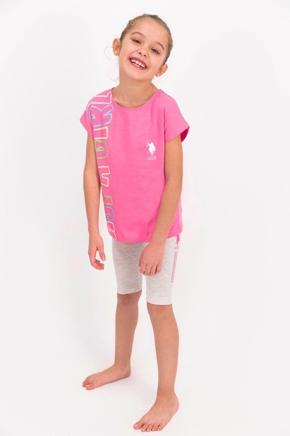 4-8 Yaş Us Polo ASSN Lisanslı Girl Pembe Kız Çocuk Takım
