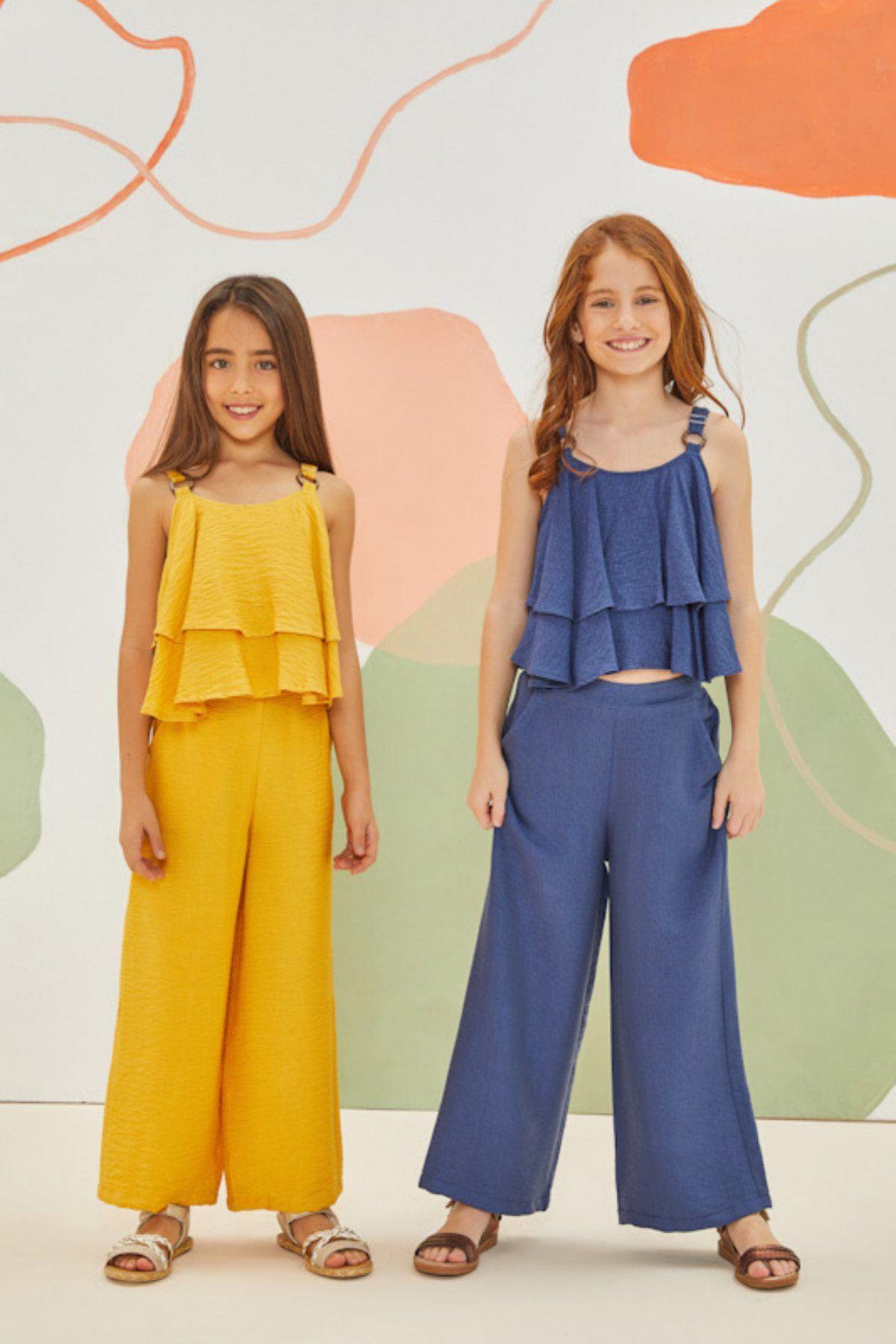 Malezya Sarı Kız Çocuk Takım