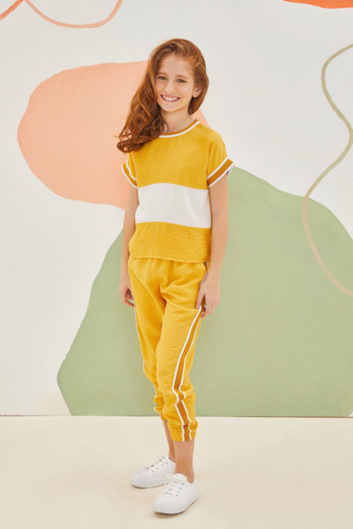 Pop Sarı Kız Çocuk Takım