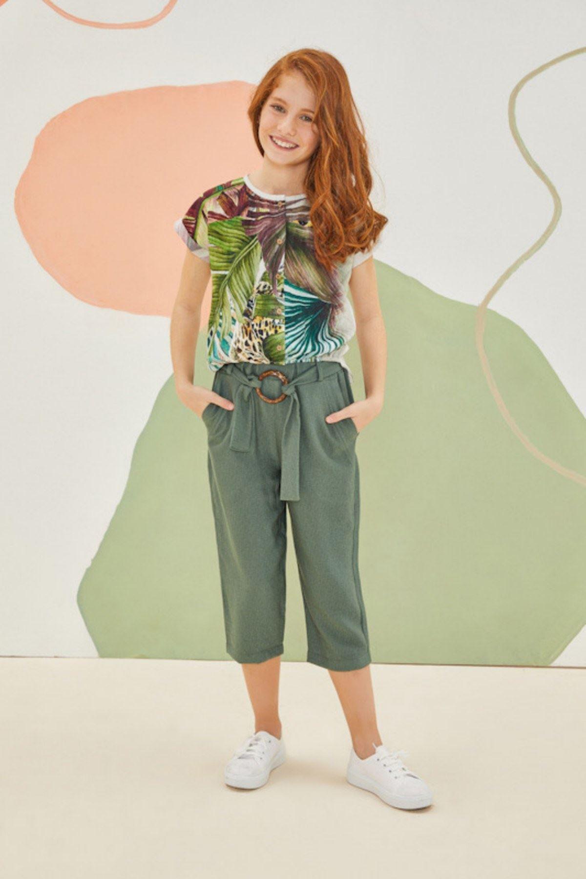 Egzotik Yeşil Kız Çocuk Takım