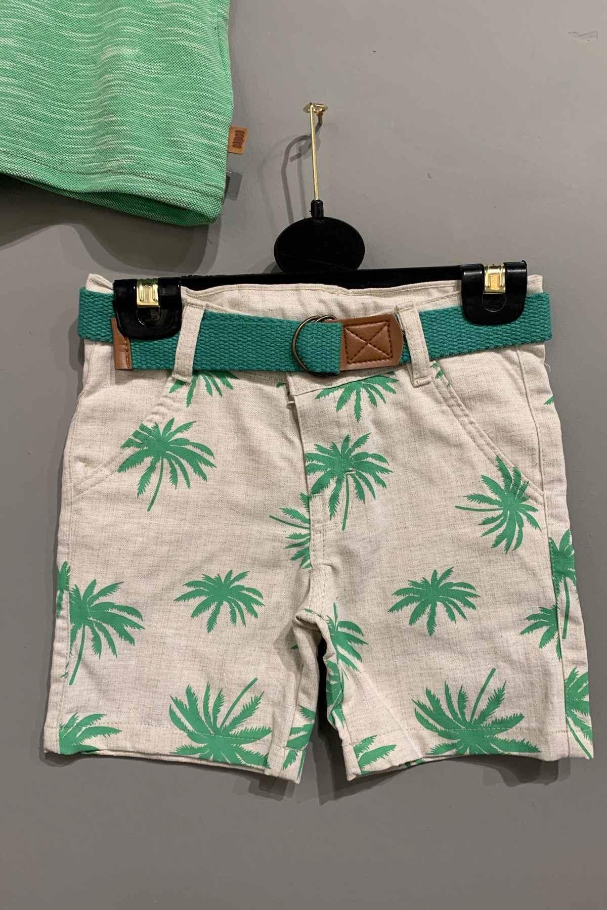 Yeşil Palmiye Figürlü Takım