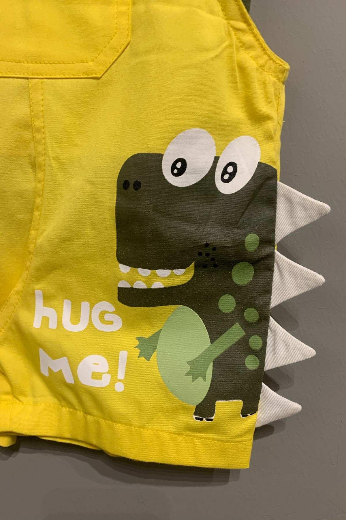 Hug Me Sarı Salopet