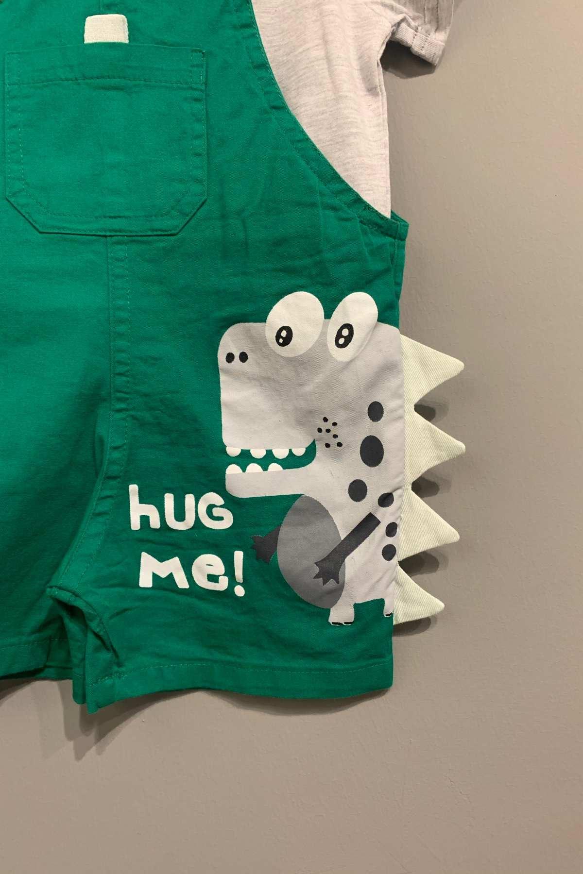 Hug Me Yeşil Salopet Takım