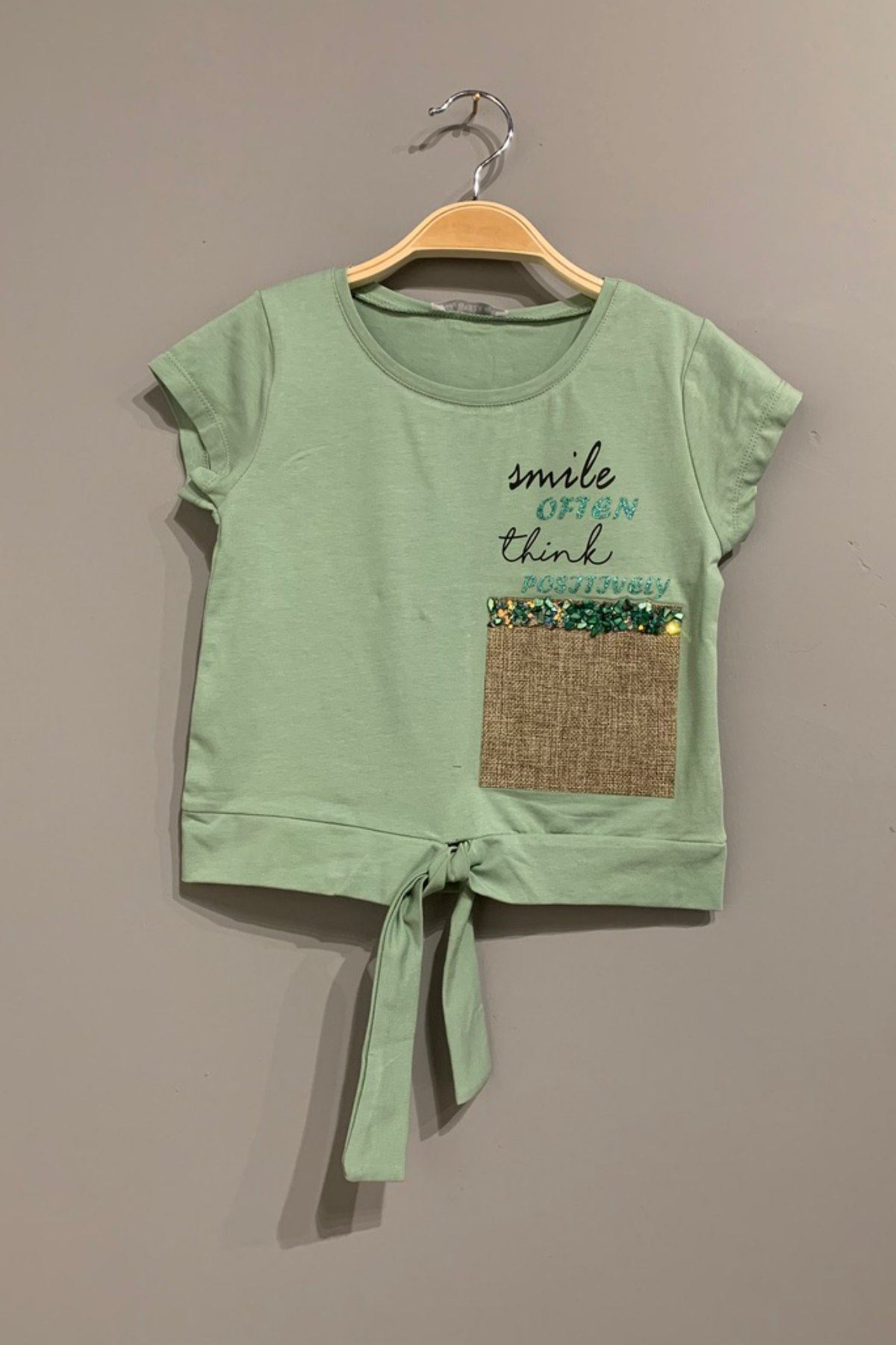 Smile Yeşil Kız Çocuk T-shirt