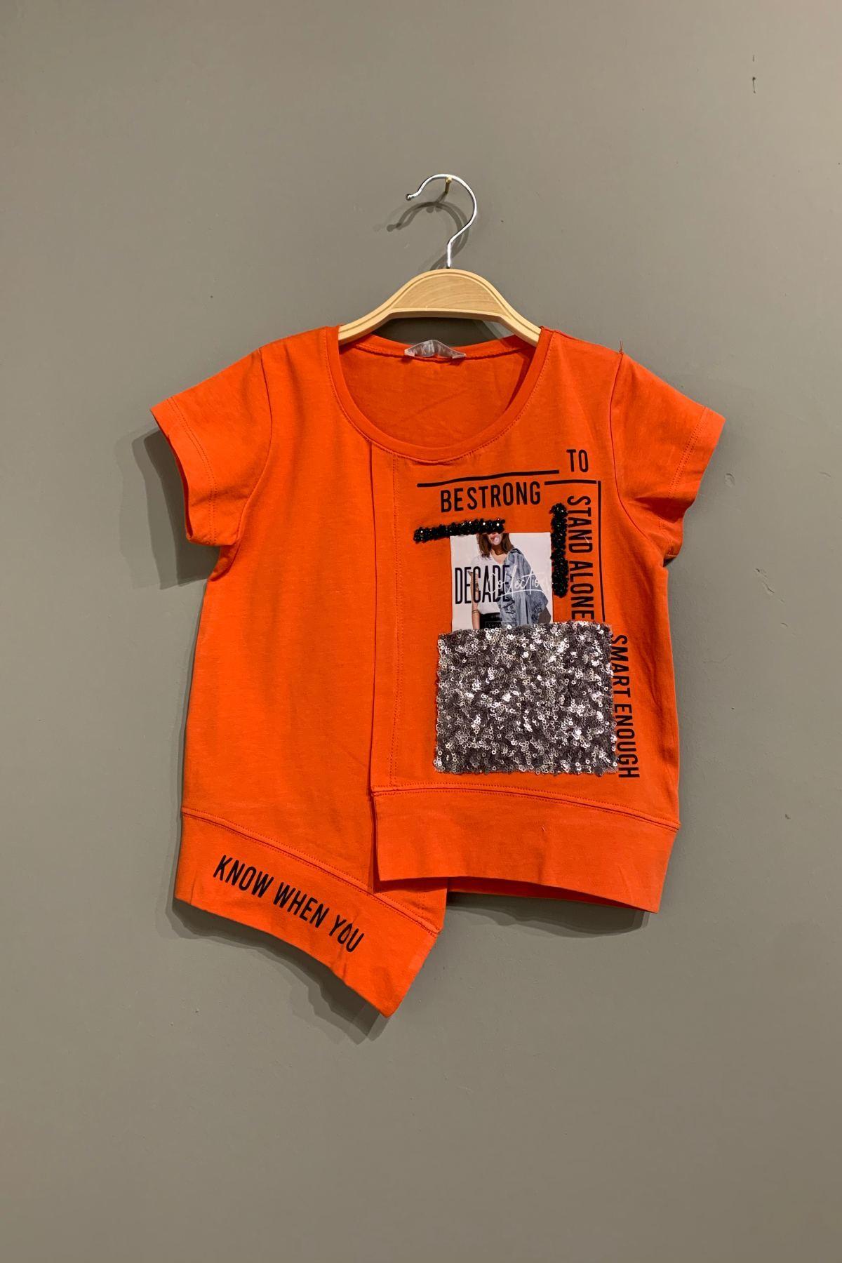 Bestrong Turuncu Kız Çocuk T-shirt