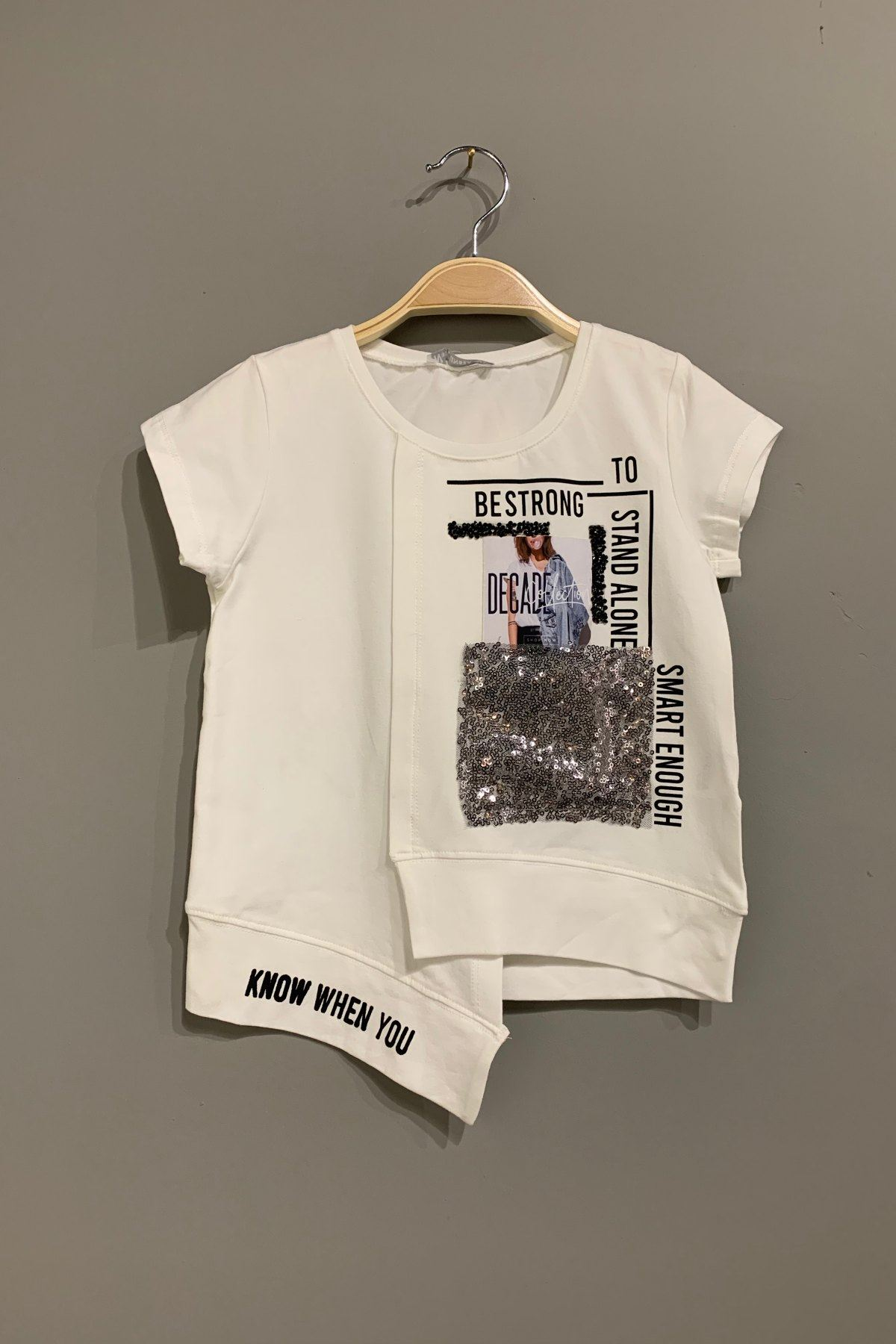 Bestrong Krem Kız Çocuk T-shirt