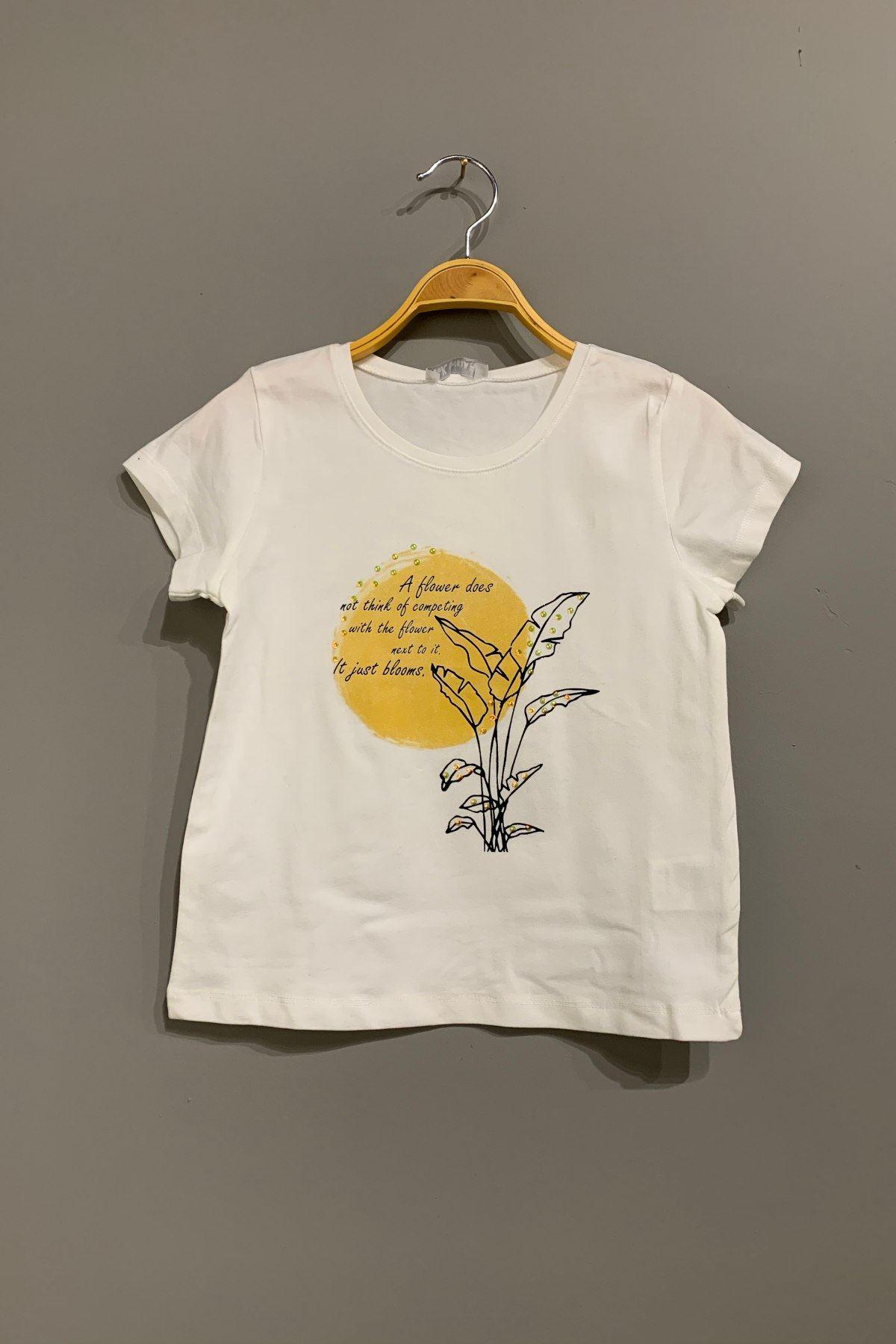 Blooms Sarı Kız Çocuk T-shirt