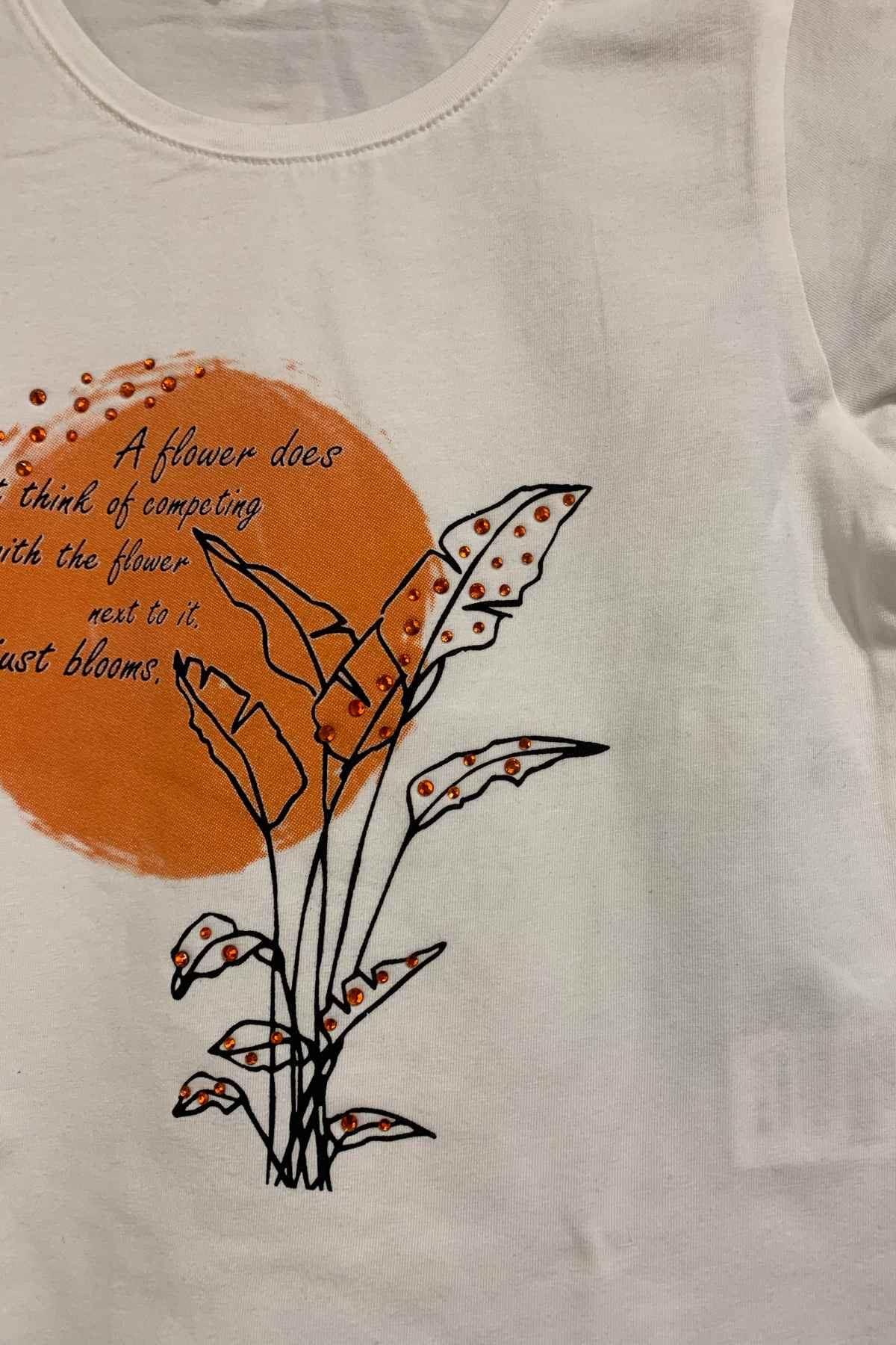 Blooms Turuncu Kız Çocuk T-shirt
