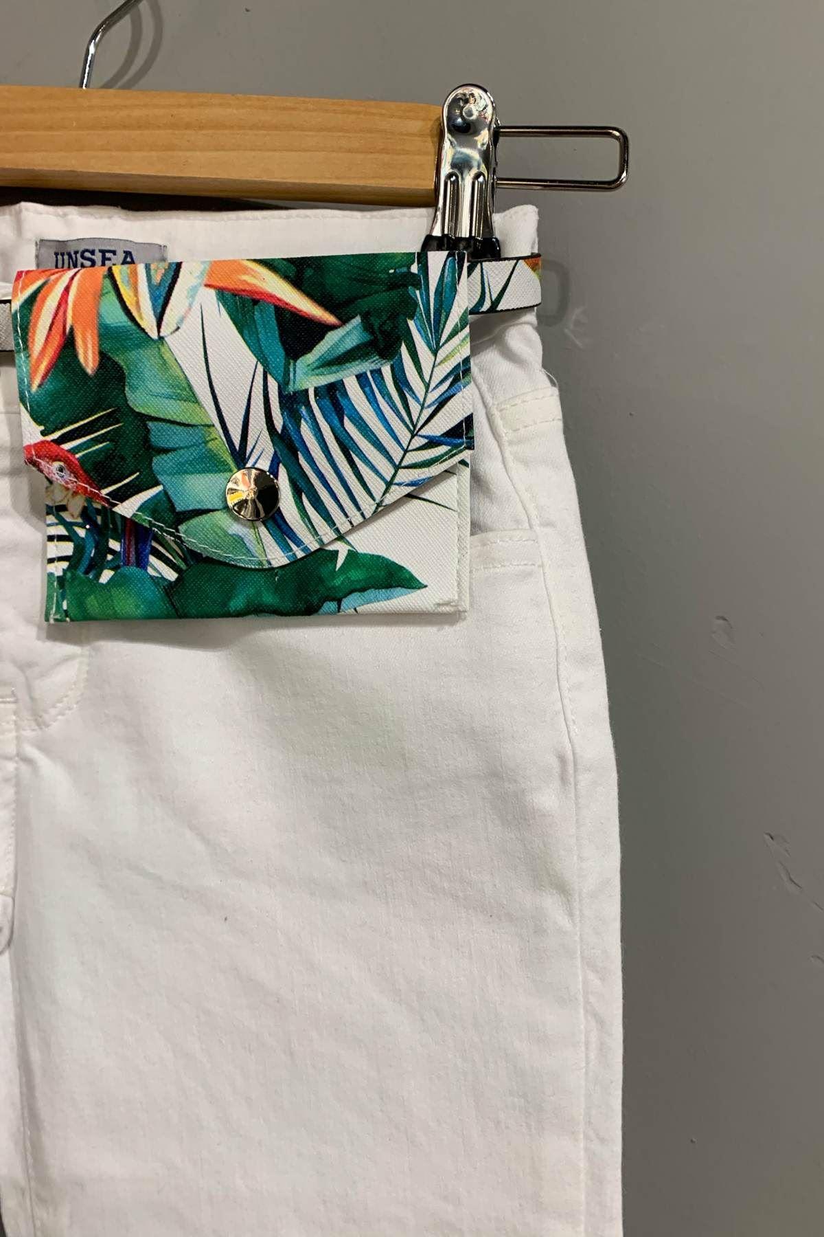 Beyaz Kız Çocuk Pantolon