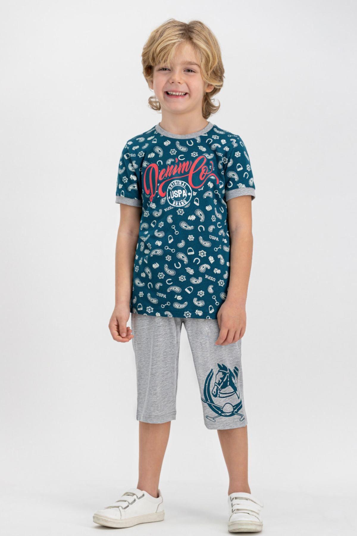 4-8 Yaş Us Polo ASSN Lisanslı Brand Laci Erkek Çocuk Takım