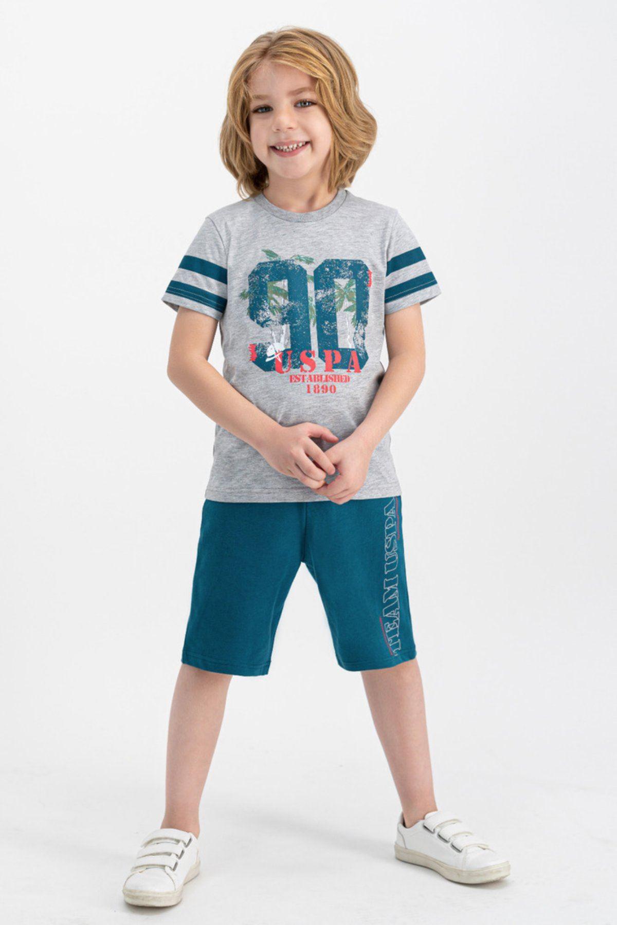 4-7 Yaş Us Polo ASSN Lisanslı 90 Gri Erkek Çocuk Takım