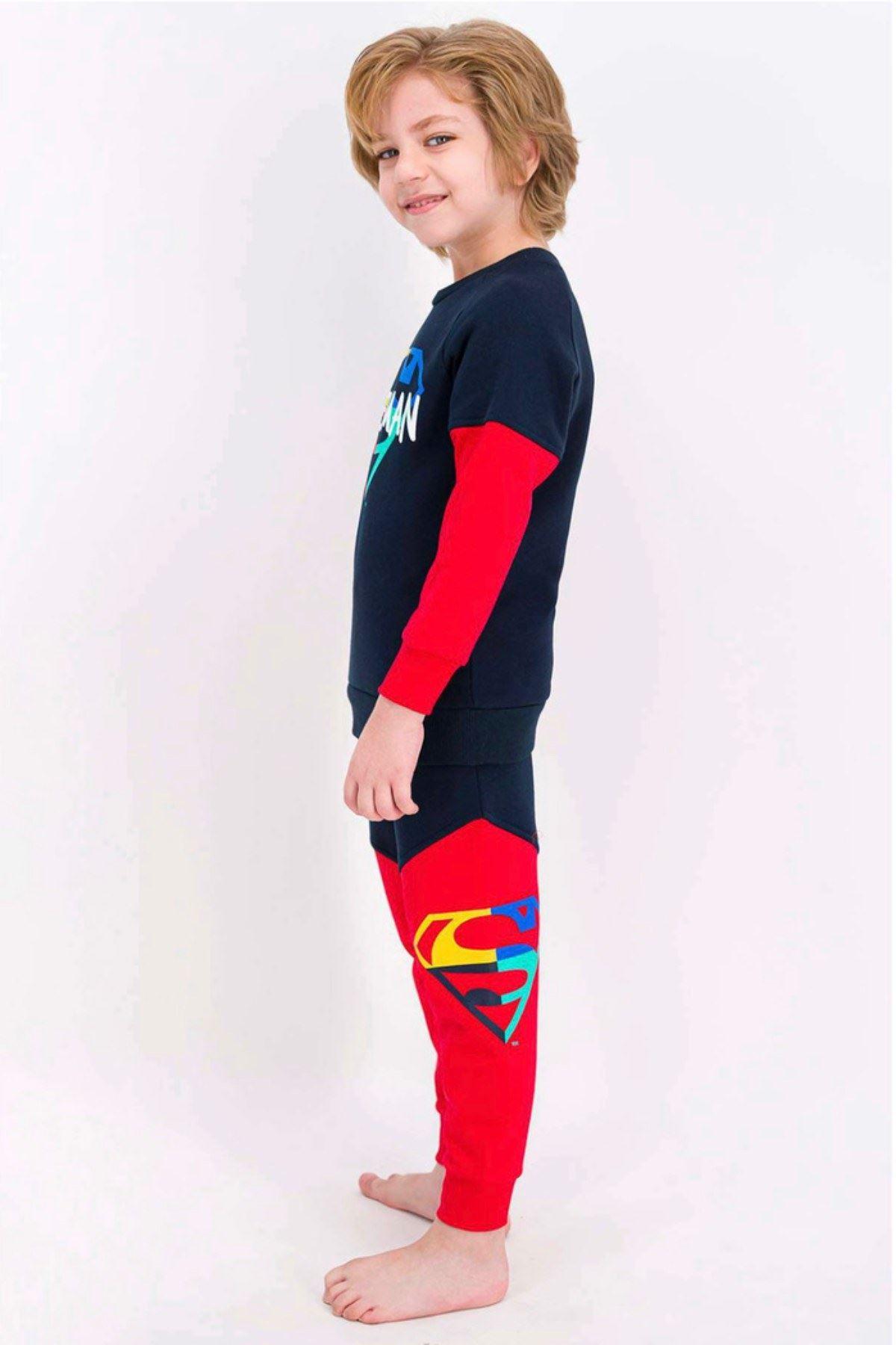Lisanslı Superman Çocuk Takım