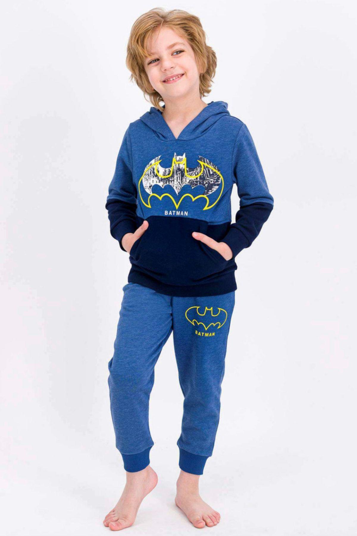 Lisanslı Kapüşonlu Batman Çocuk Takım