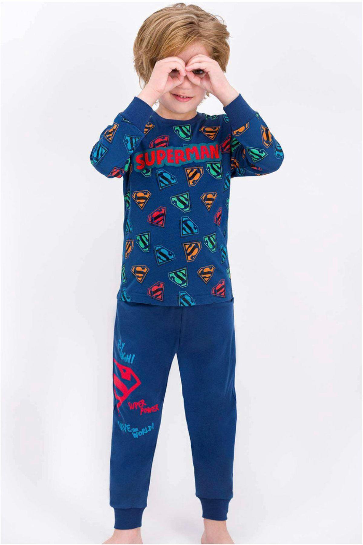 Lisanslı Superman Çocuk Pijama Takım