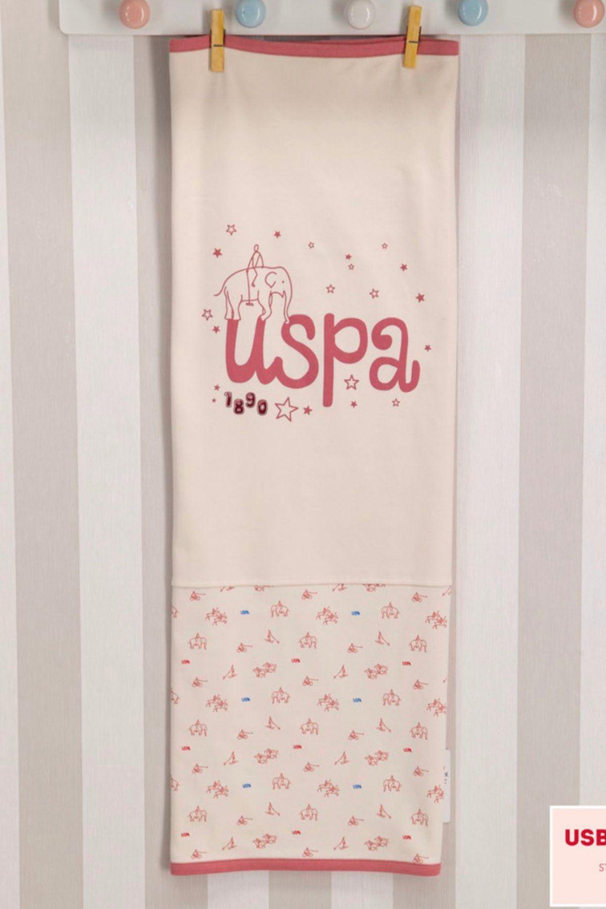 Us Polo ASSN Lisanslı Kız Bebek Battaniye