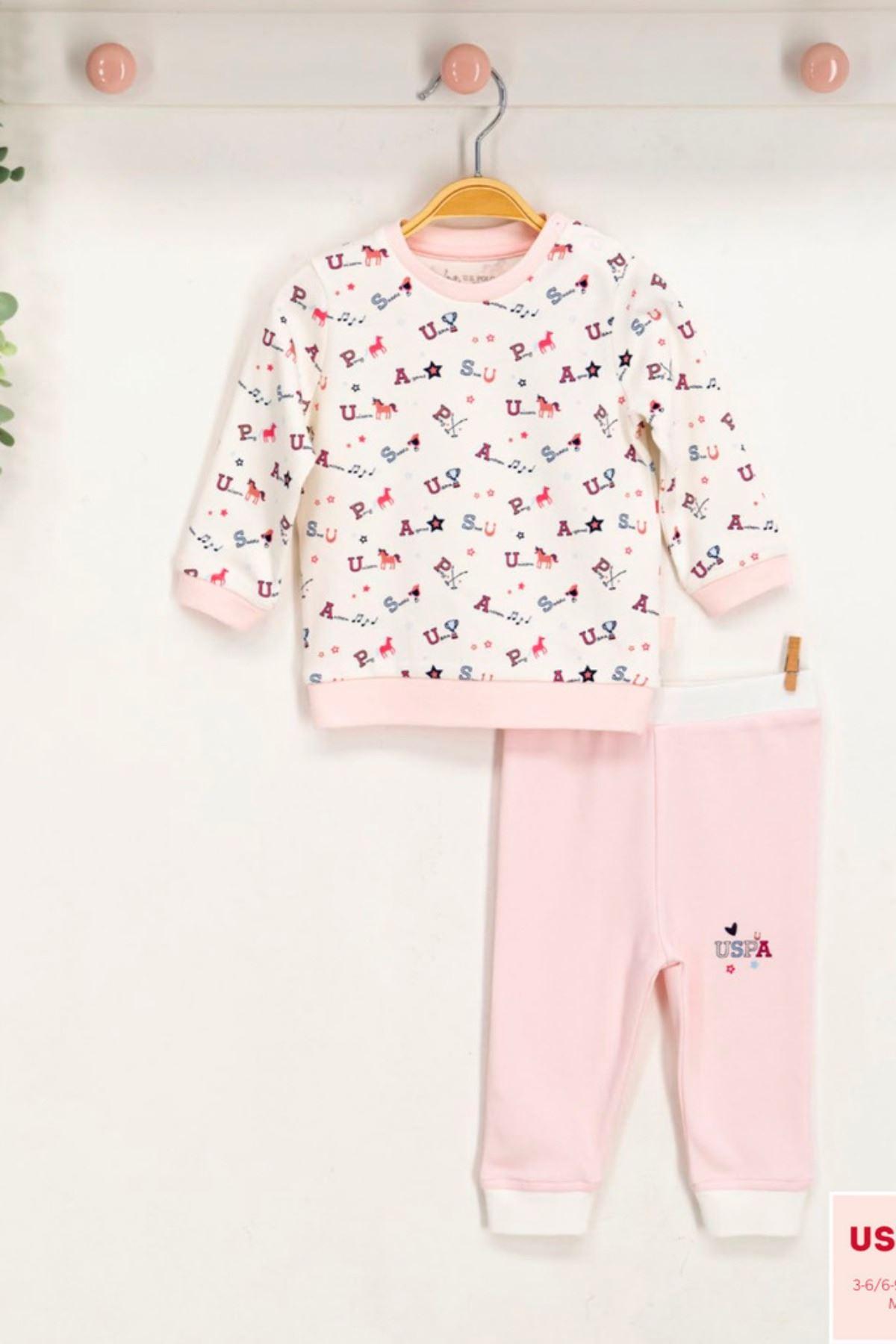 Us Polo ASSN Lisanslı Kız Bebek Takım
