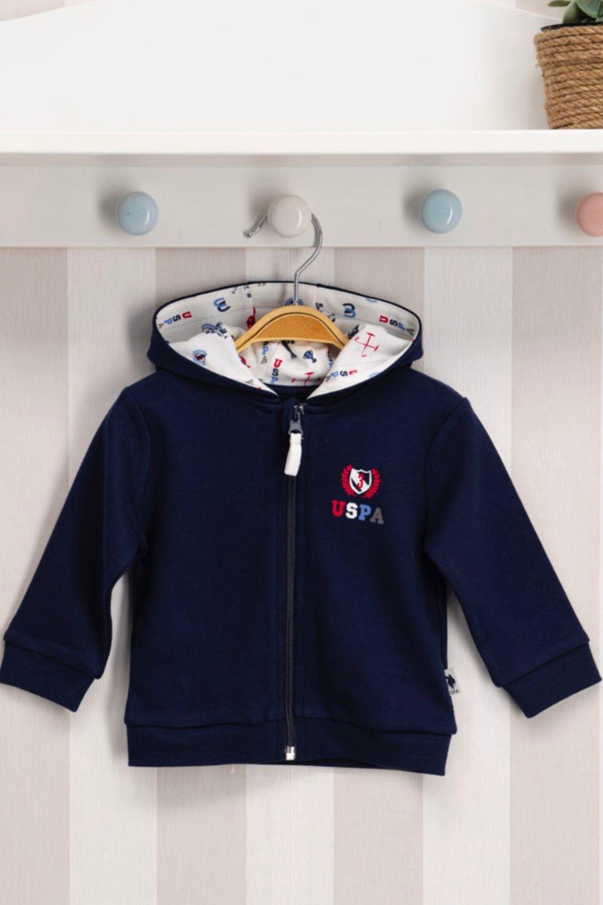 Us Polo ASSN Lisanslı Erkek Bebek Hırka