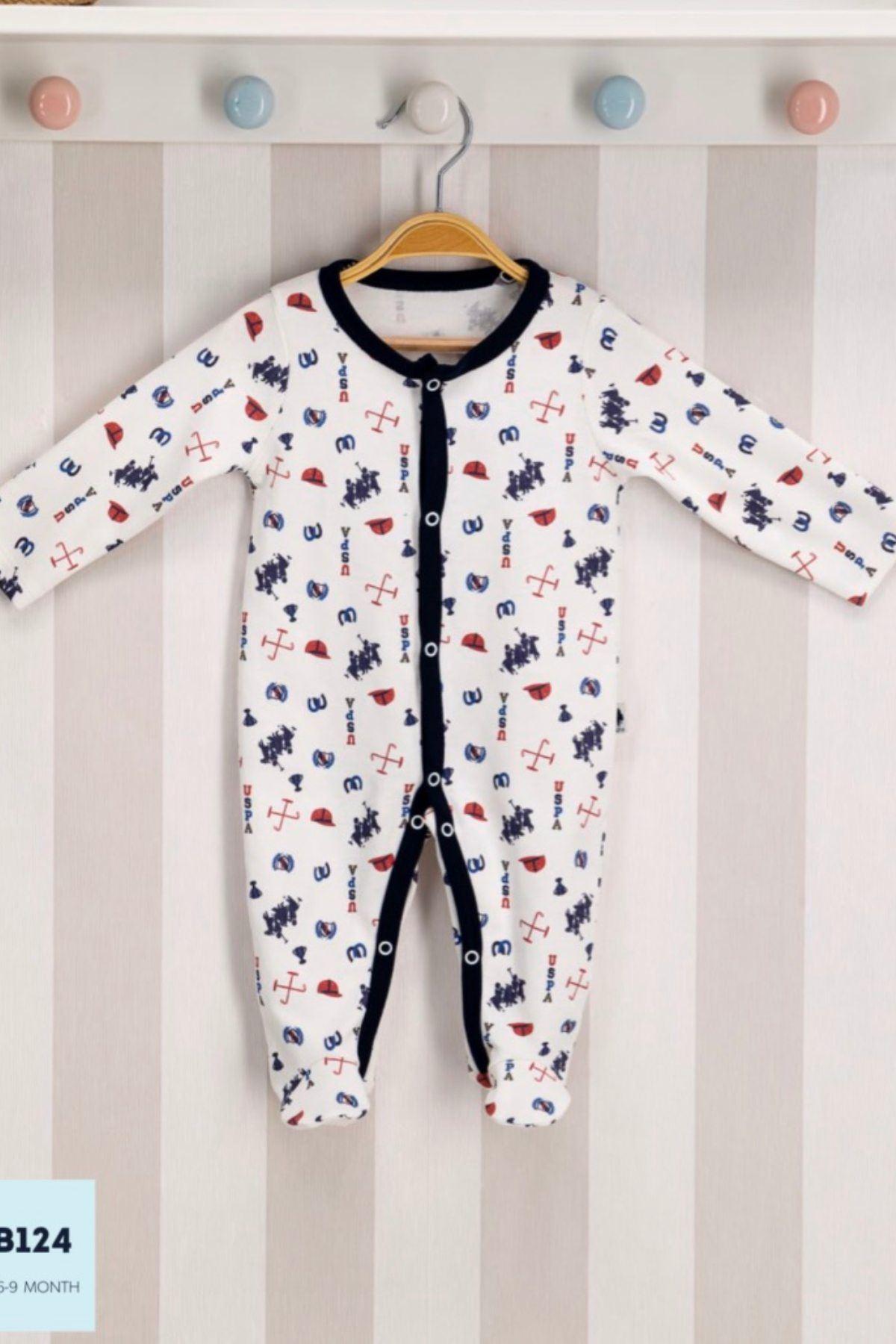 Us Polo ASSN Lisanslı Erkek Bebek Tulum