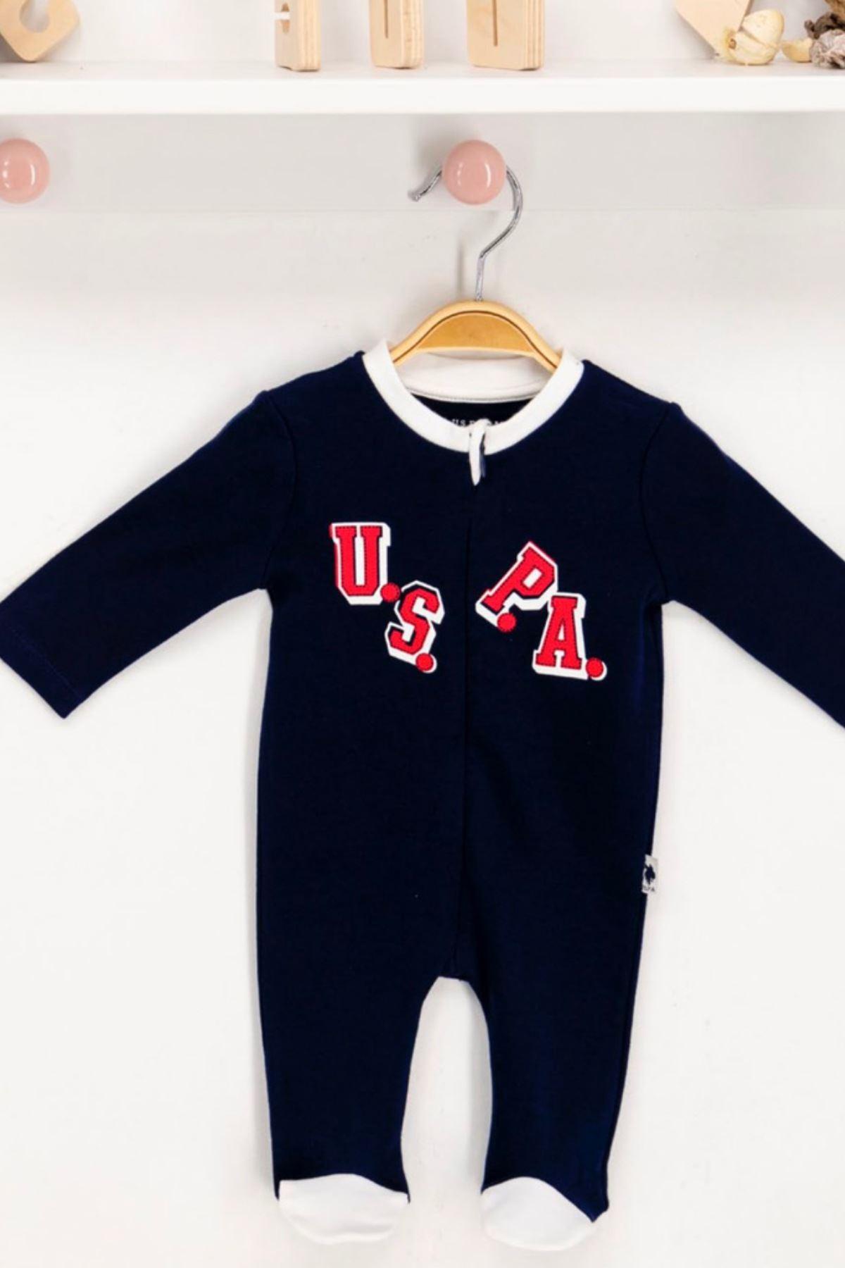 Us Polo ASSN Lisanslı Erkek Bebek Patikli Tulum