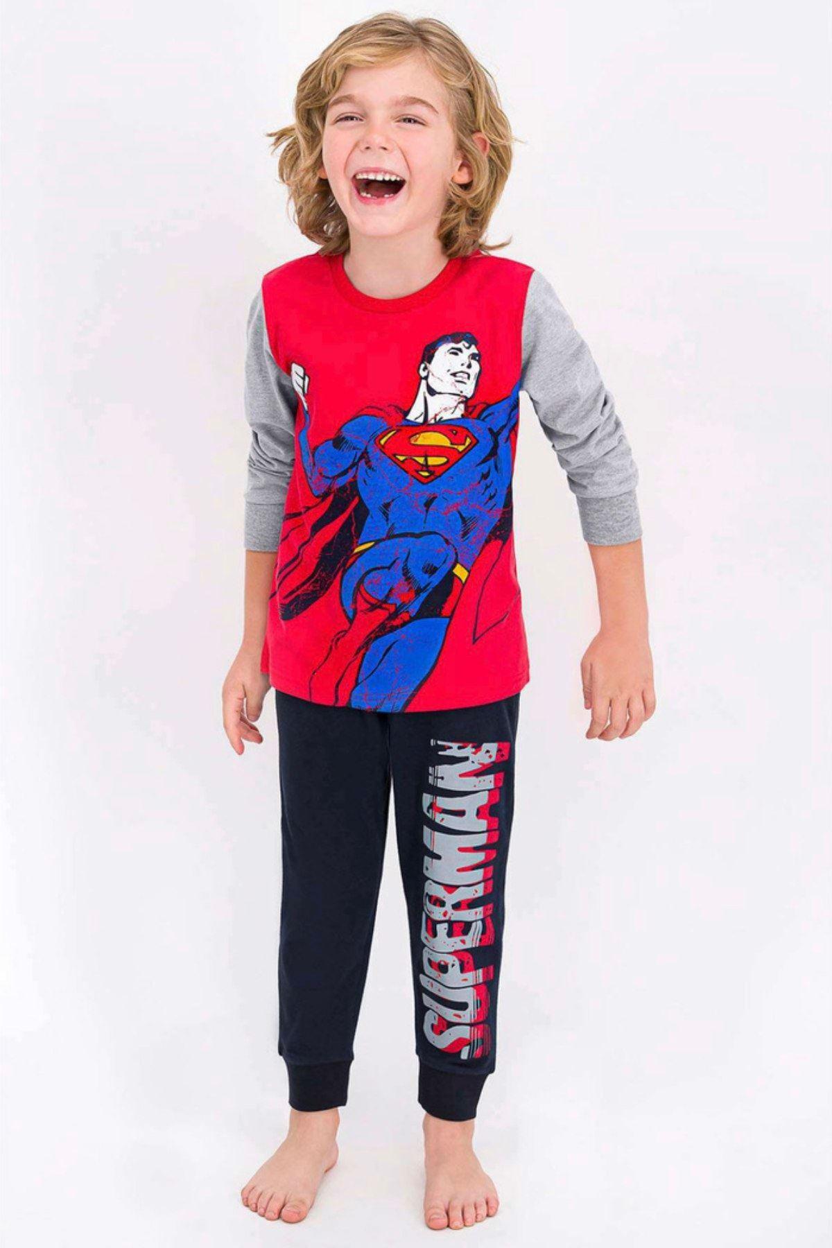 Lisanslı Superman Erkek Çocuk Takım