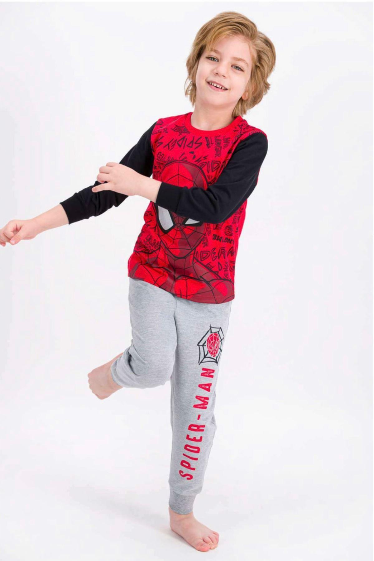 Lisanslı Spiderman Erkek Çocuk Takım - Kırmızı