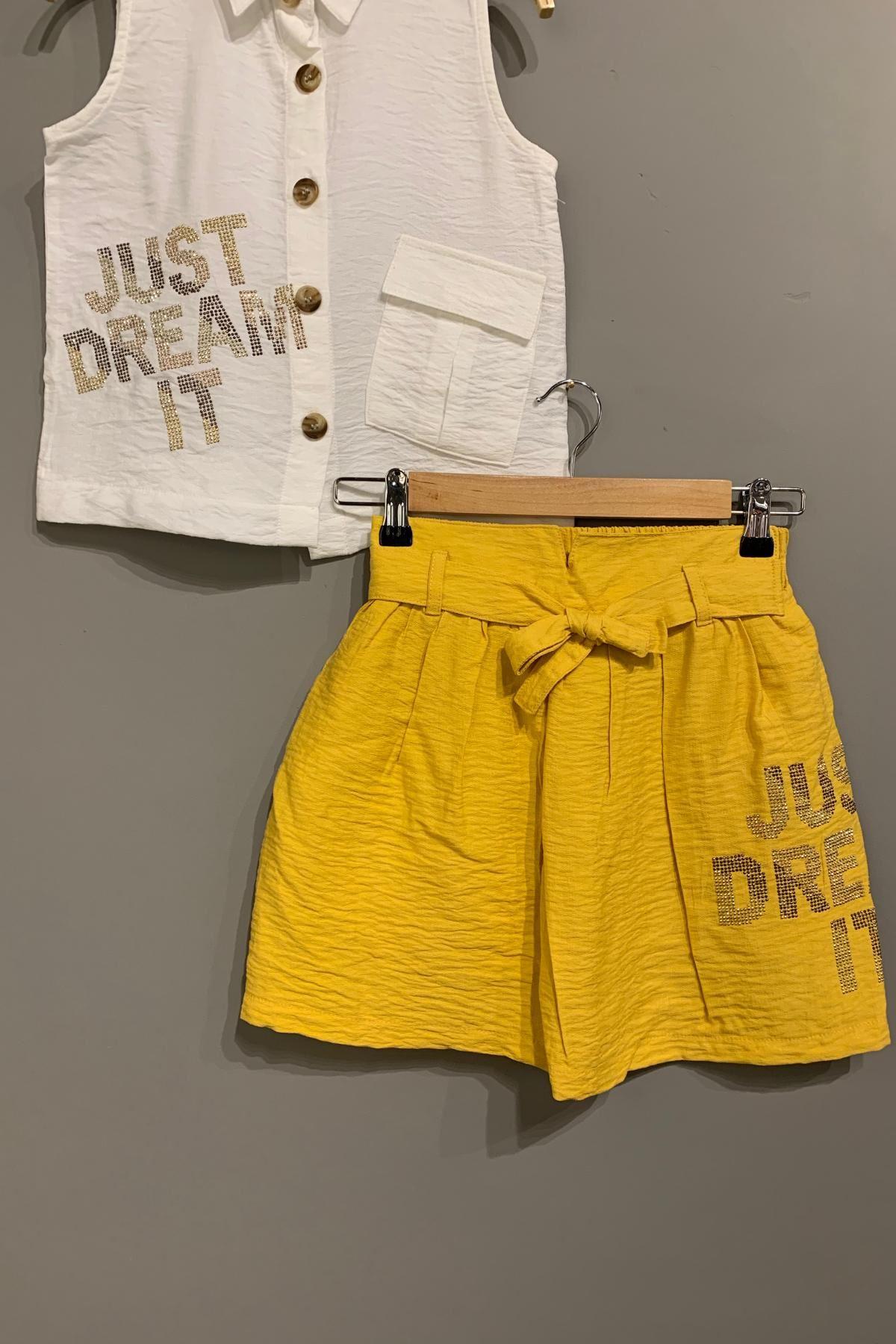 Just Dream It Etekli Kız Çocuk Takım- Sarı