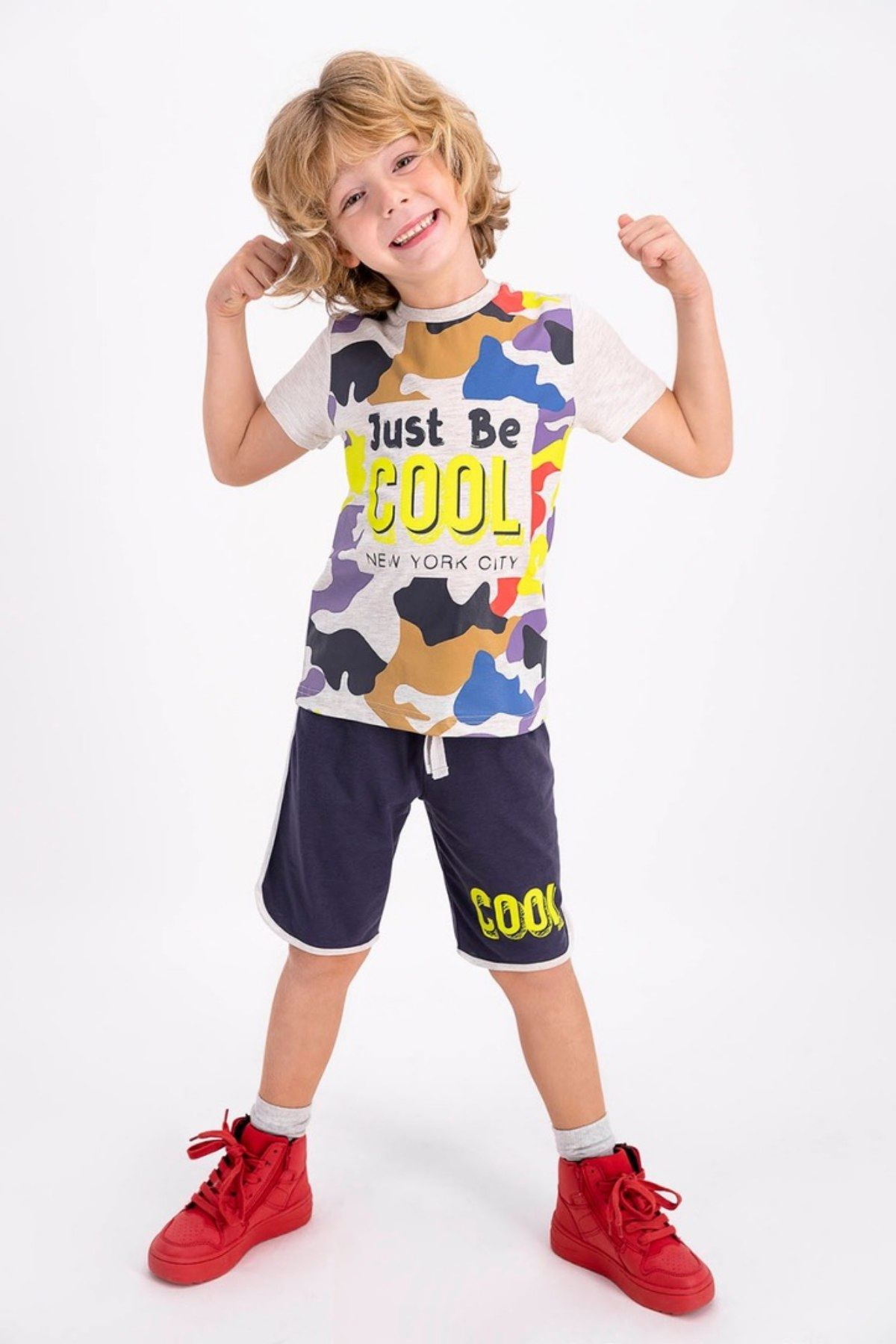 2-8 Yaş Just Be Cool Erkek Çocuk Takım - Bejmelanj
