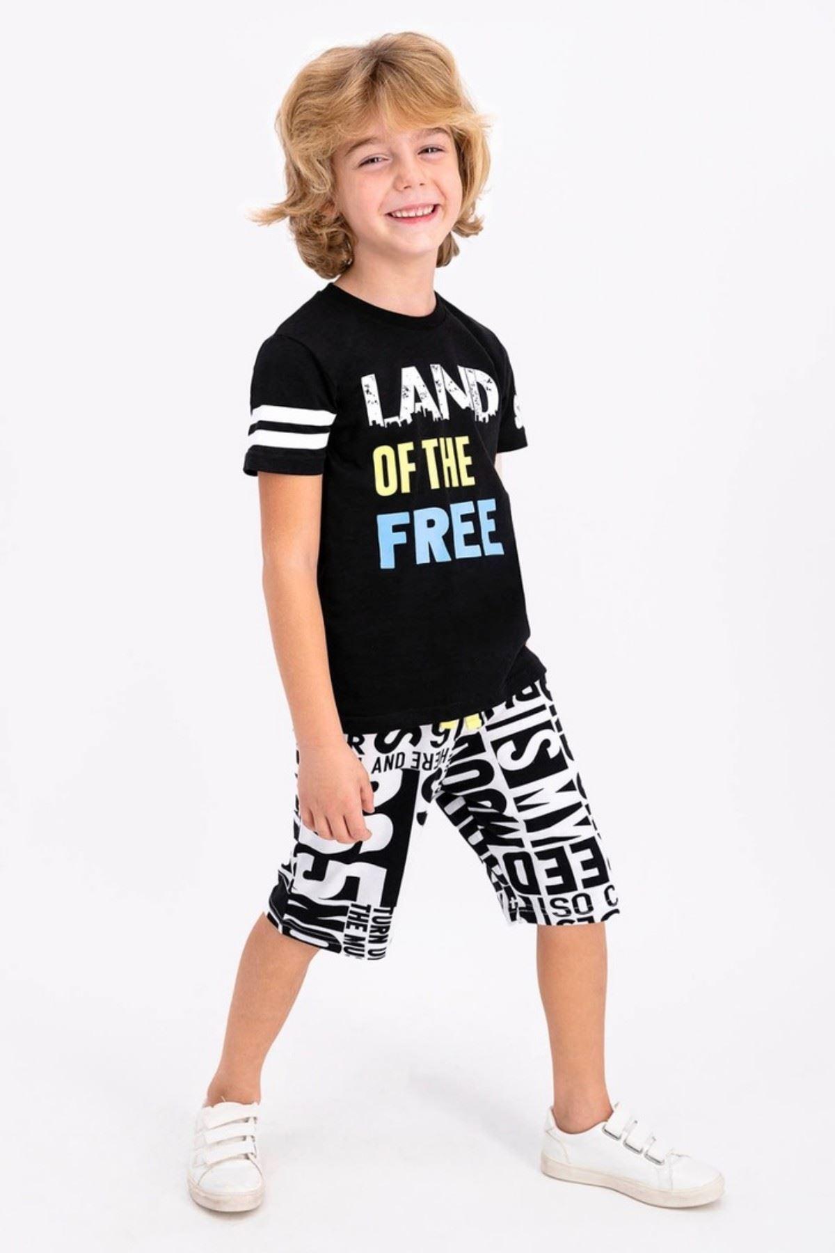 Land Of  Erkek Çocuk Takım - Siyah