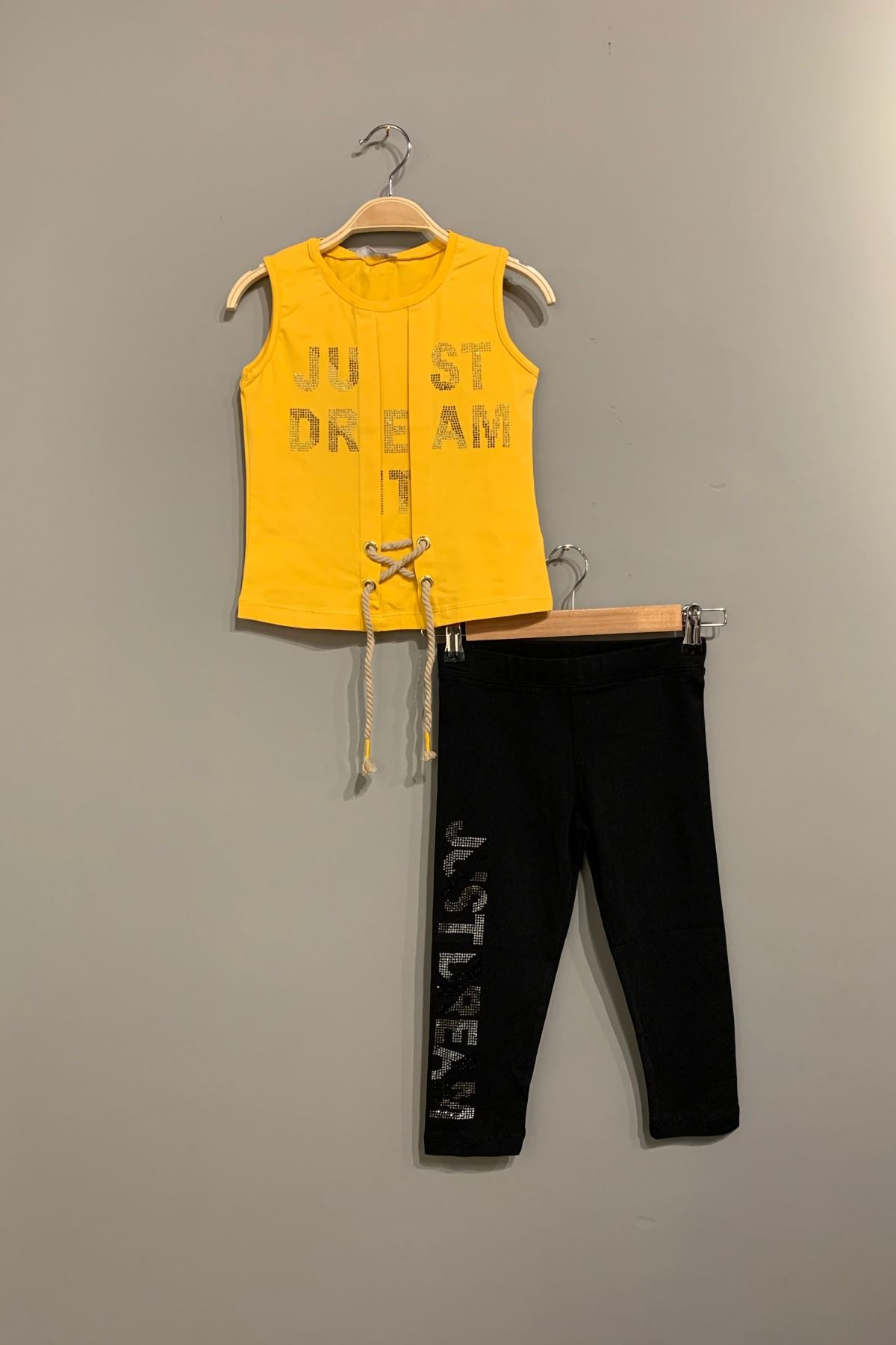 Just Dream Taytlı Kız Çocuk Takım - Sarı