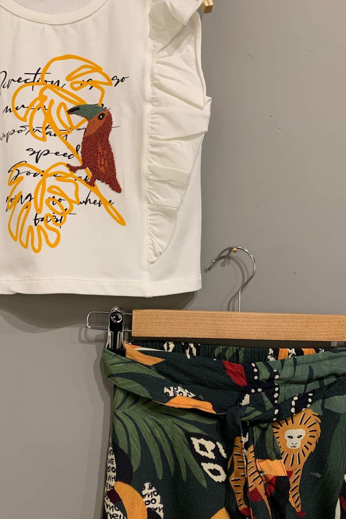 Amazon  Desen Kapri Kız Çocuk Takım