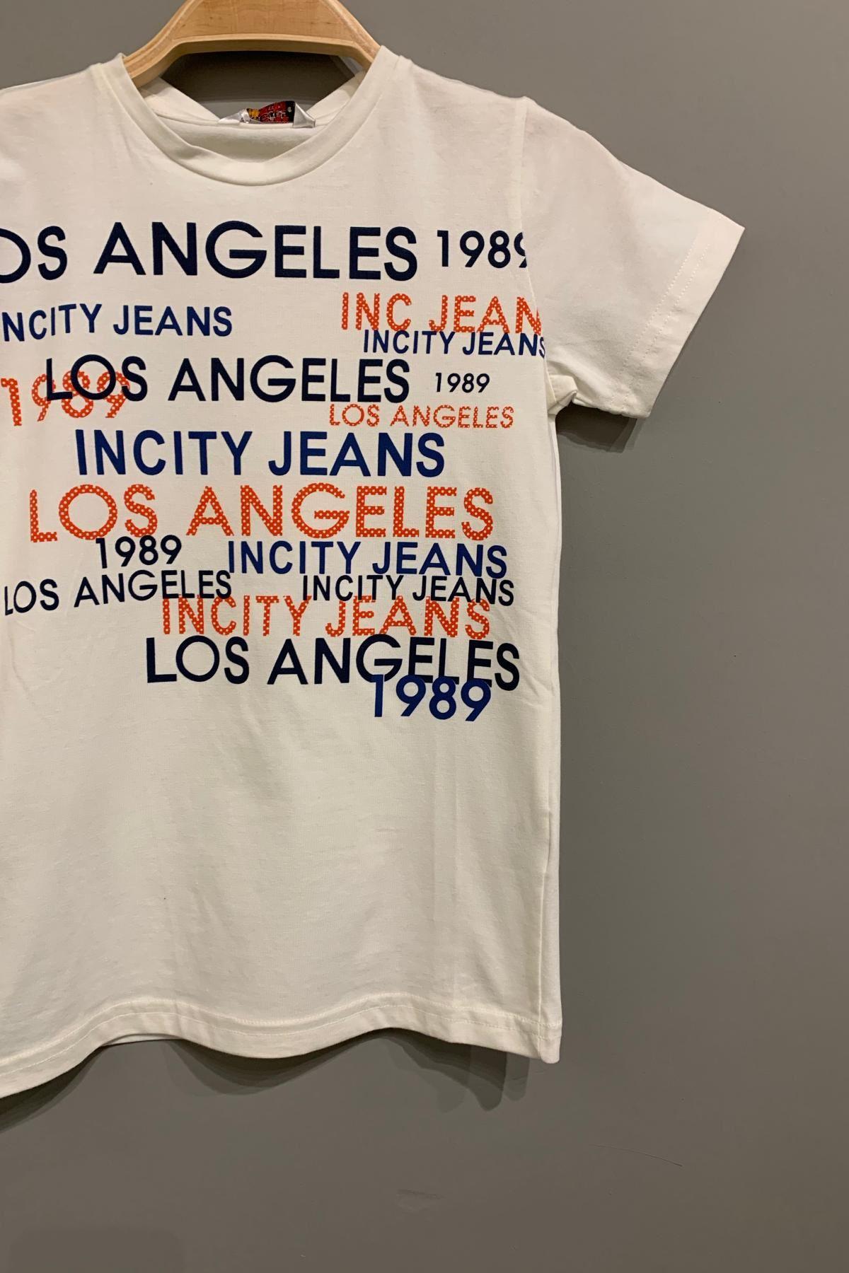 Los Angeles Baskılı Erkek Çocuk  T-Shırt