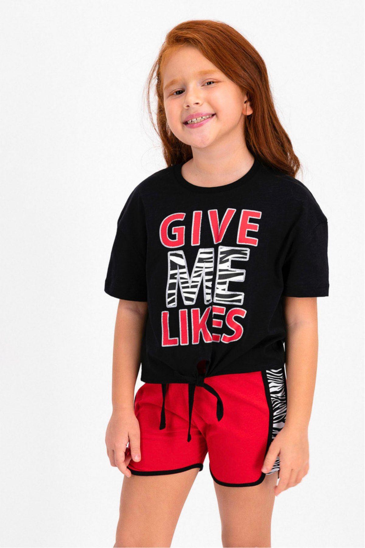 Give Me Likes Çocuk Takım - Siyah