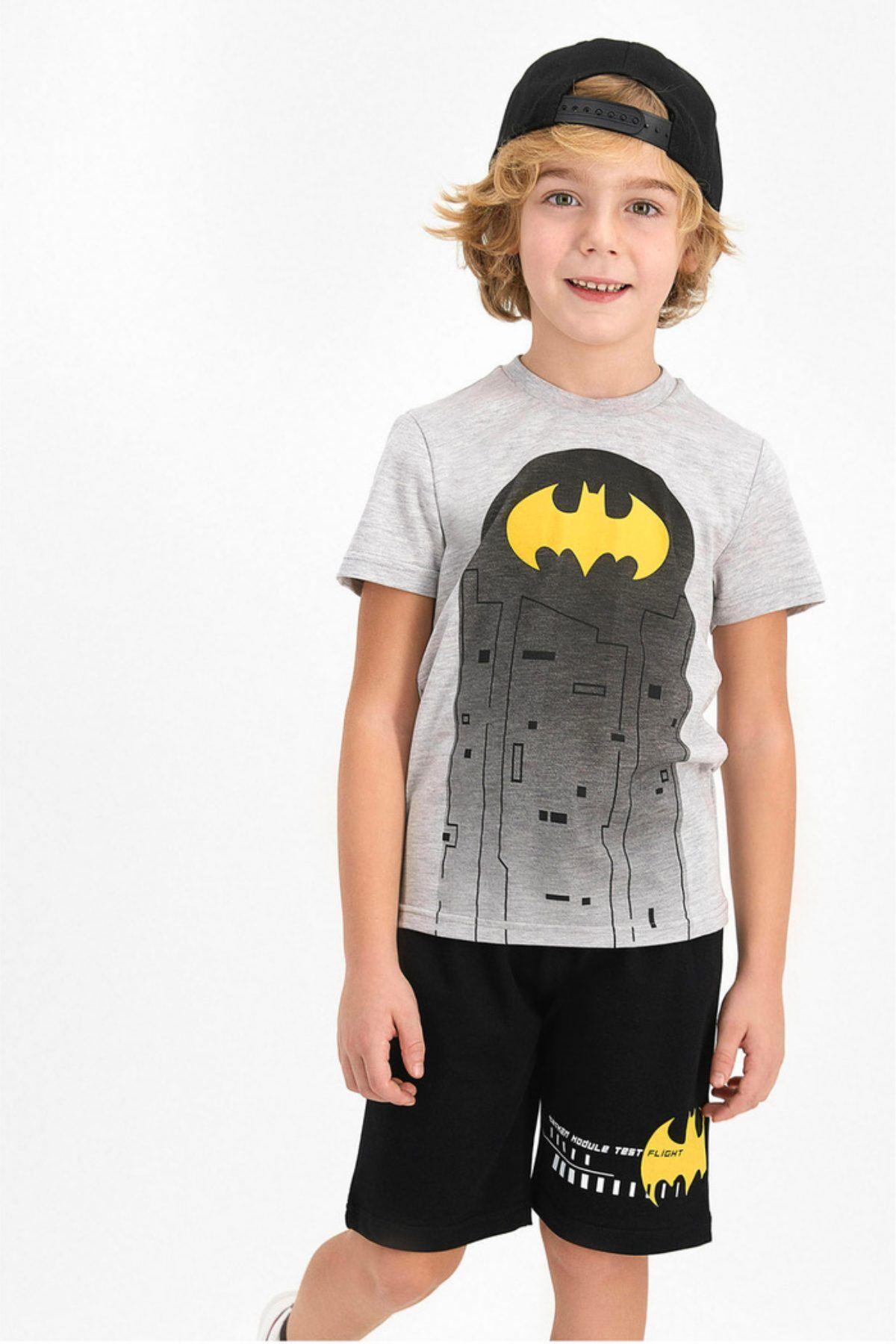 Batman Erkek Kapri Takım - Gri -