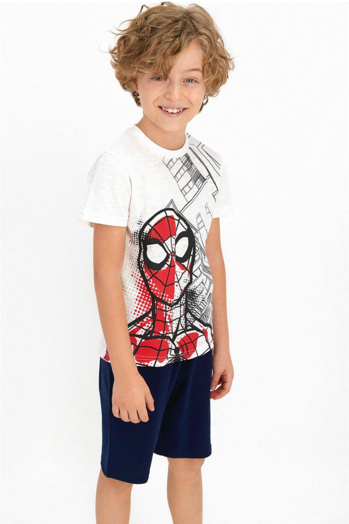Spider-Man Erkek Kapri Takım - Krem