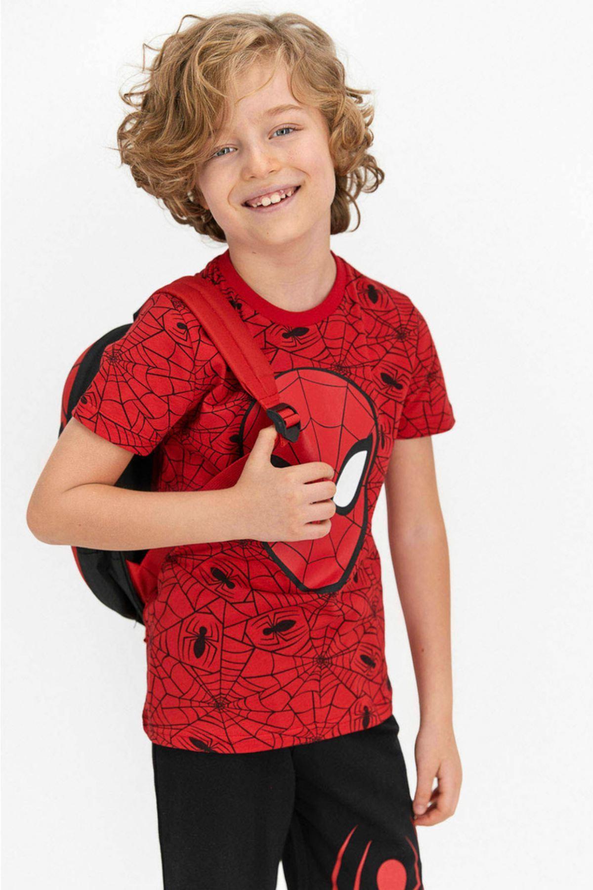 Spider-Man Erkek Kapri Takım - Kırmızı