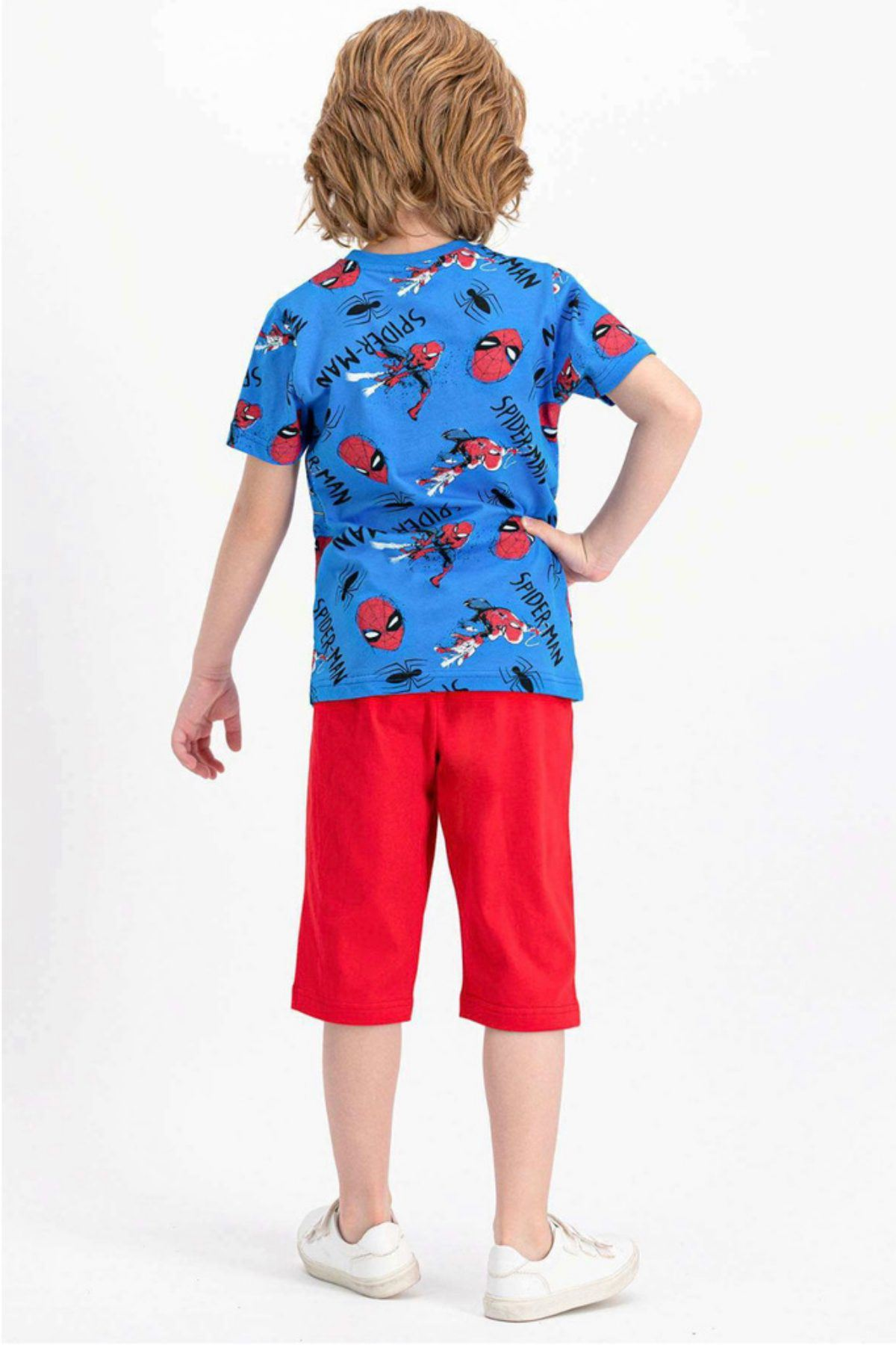 Lisanslı Spiderman Erkek Çocuk Takım - Mavi