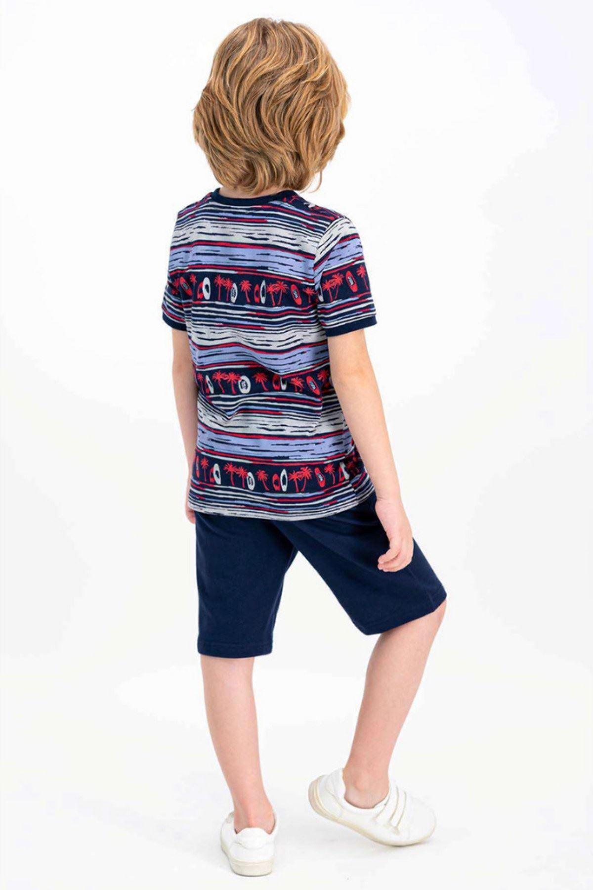 8-14 Yaş Us Polo ASSN Lisanslı Şerit Palm Laci Erkek Çocuk Takım