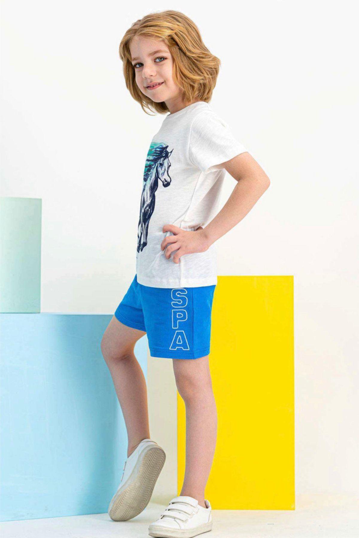 4-7 Yaş Us Polo ASSN Lisanslı Fast Beyaz Erkek Çocuk Takım