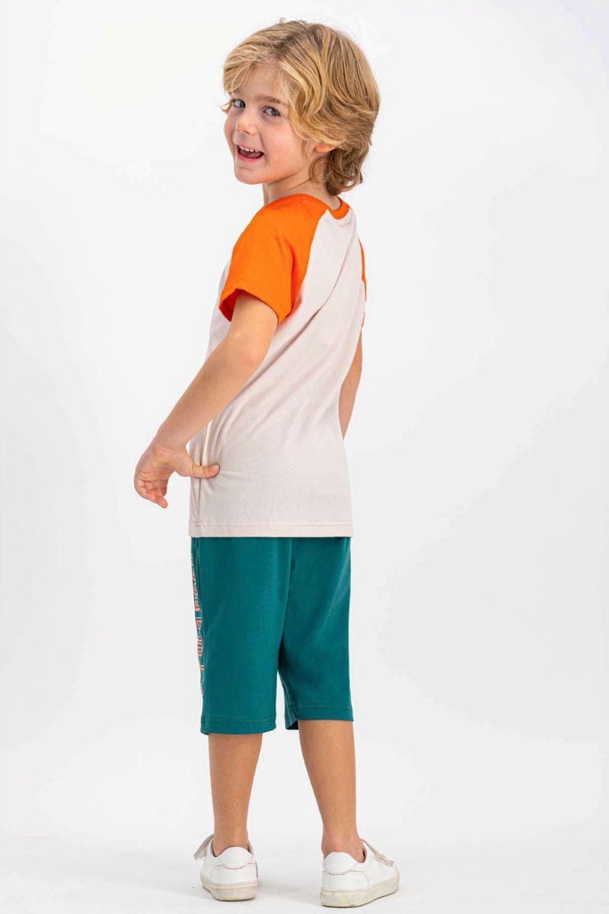 8-14 Yaş Us Polo ASSN Lisanslı Three Turuncu Erkek Çocuk Takım