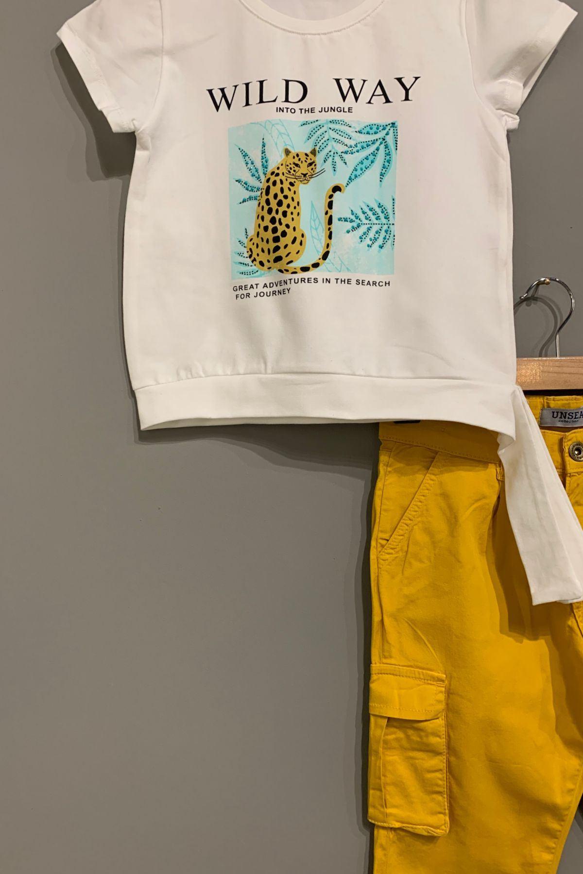 Wild Way T-shirt ve Kargo Cep Pantolon